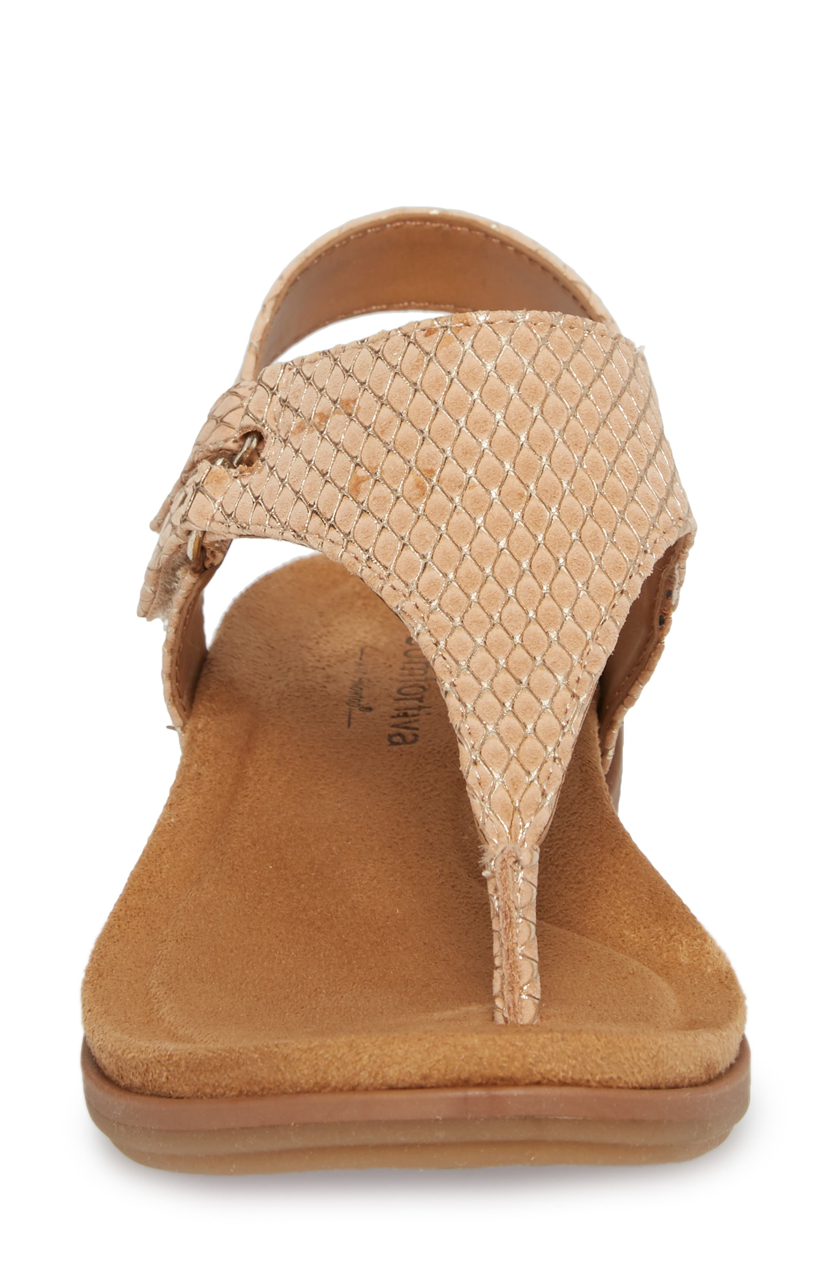 Calina Sandal,                             Alternate thumbnail 4, color,                             Sand Nubuck Leather