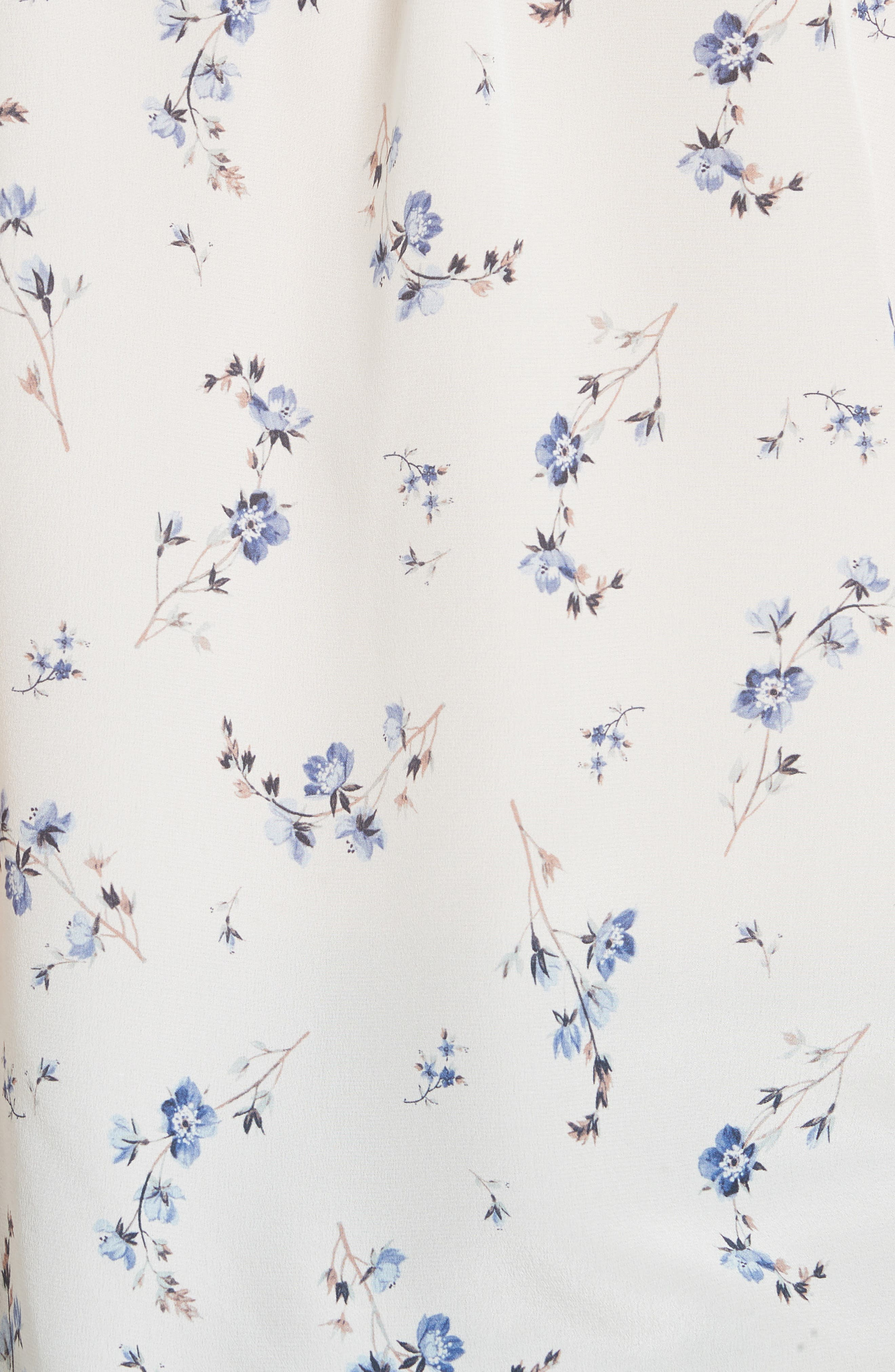 Francine Floral Silk Top,                             Alternate thumbnail 5, color,                             Snow