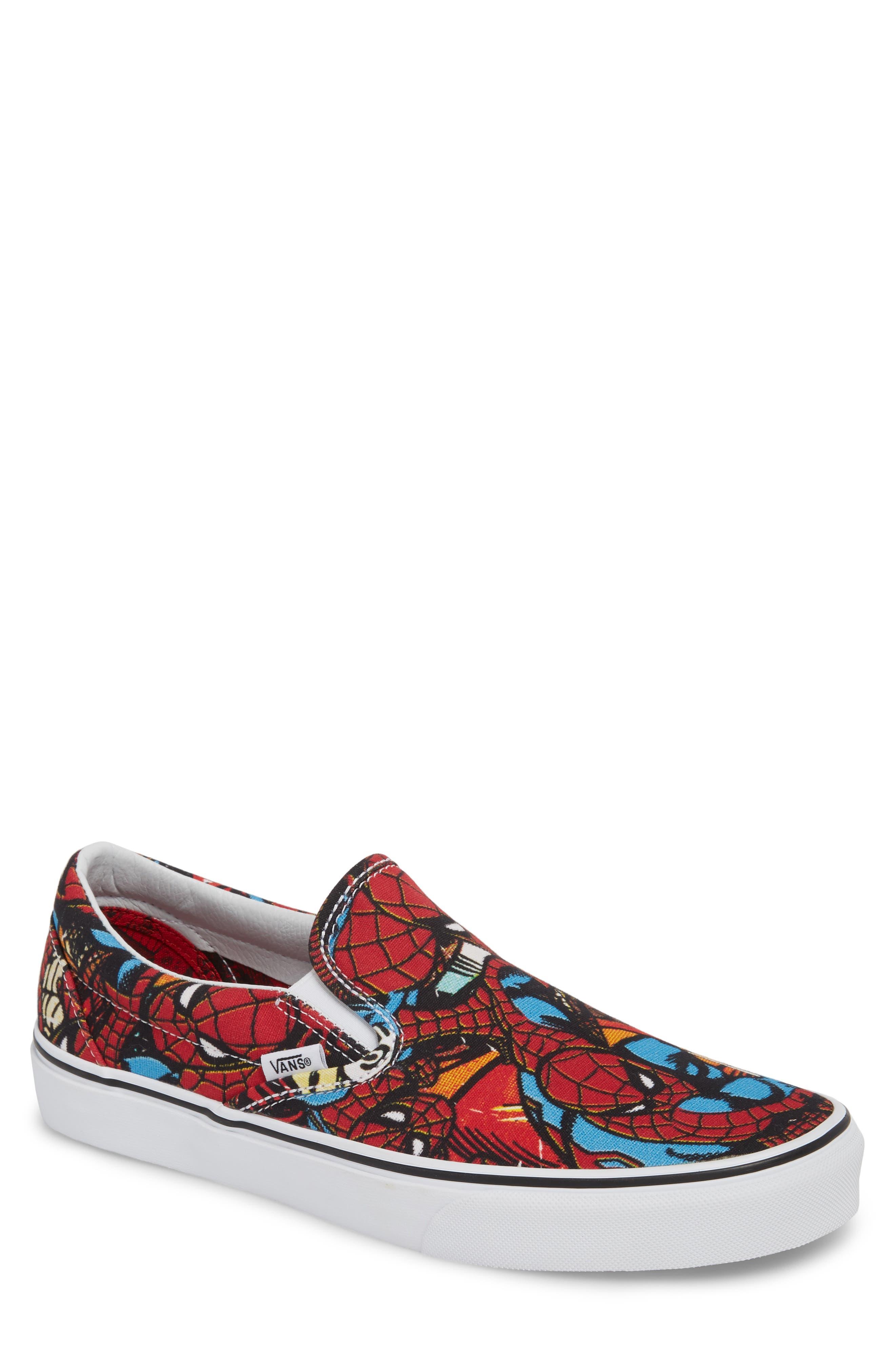 Marvel UA Classic Slip-On Sneaker,                             Main thumbnail 1, color,                             Black/ Red Textile
