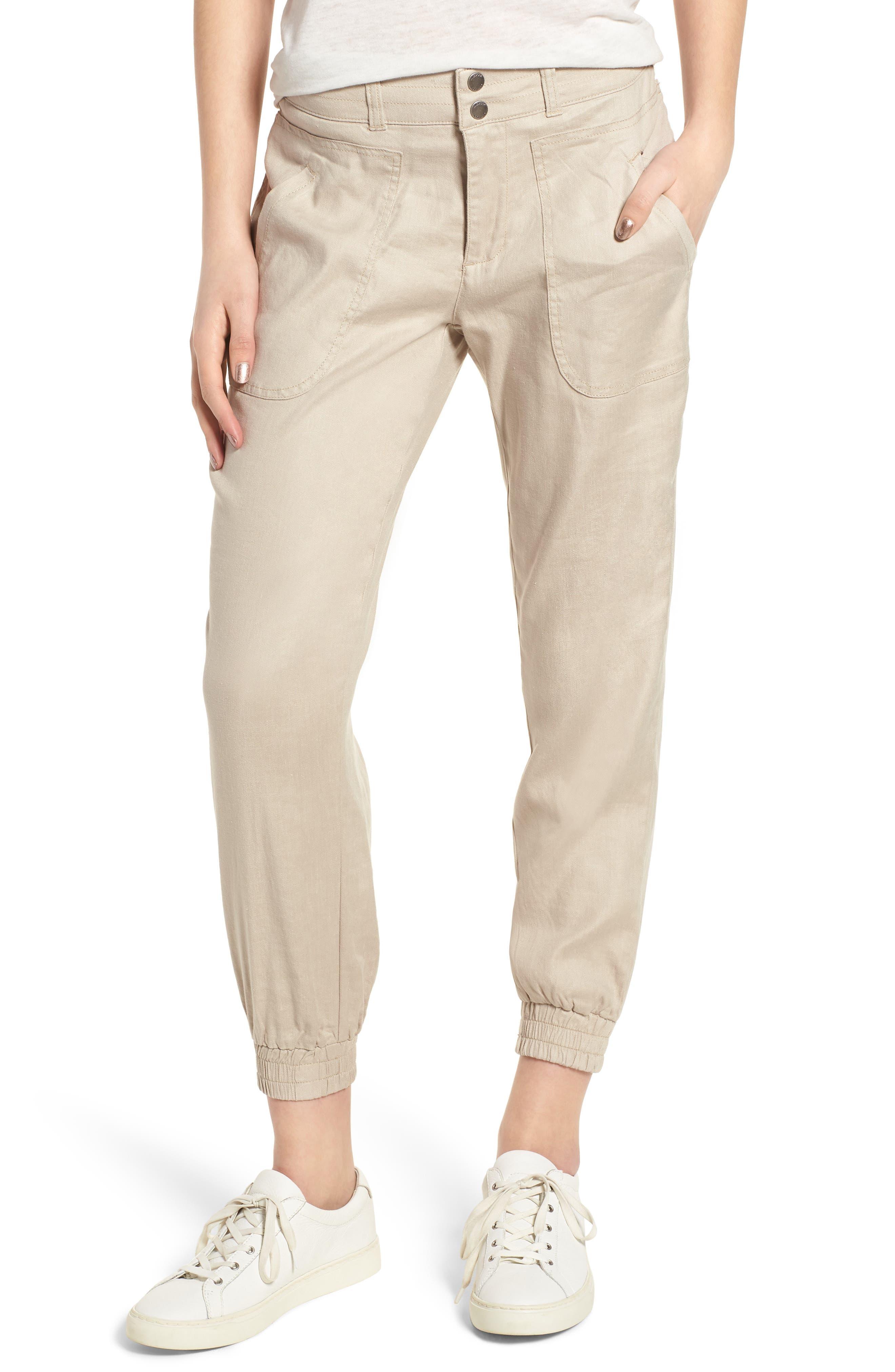 Liverpool Jeans Company Ava Linen Blend Jogger Pants