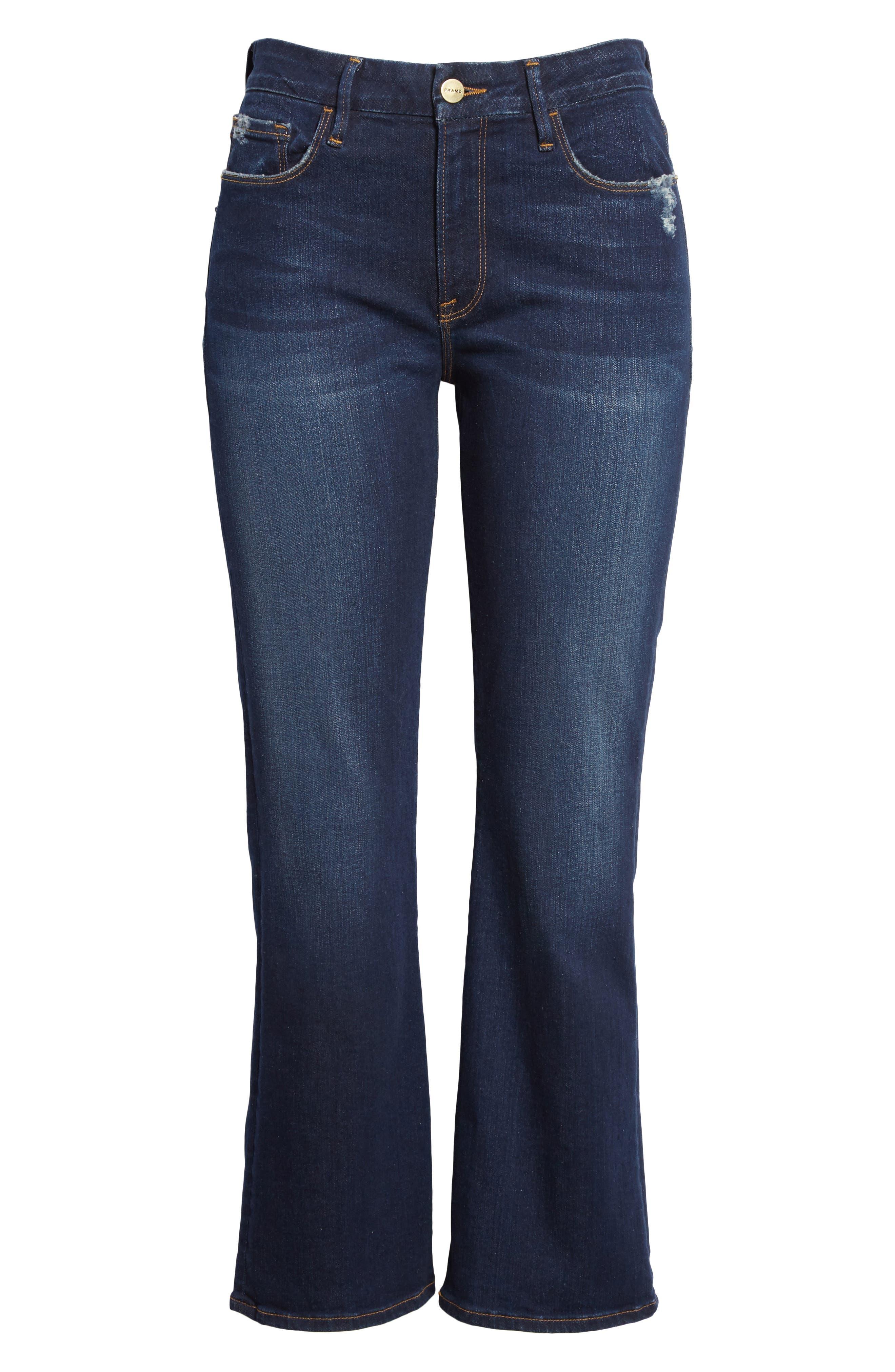 Le Crop Mini Boot Jeans,                             Alternate thumbnail 6, color,                             Creek Hill