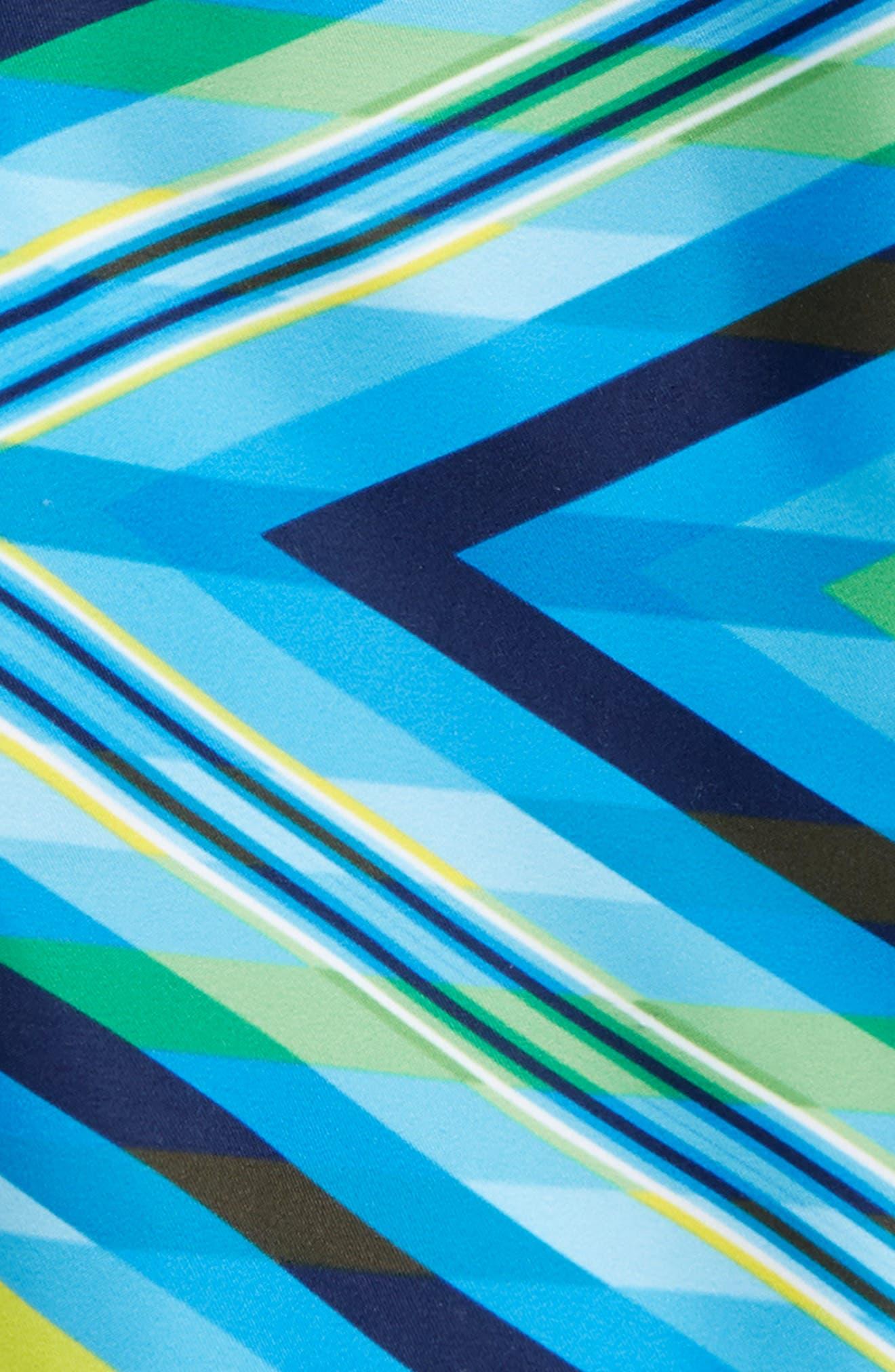 Geo Mirage Swim Trunks,                             Alternate thumbnail 2, color,                             Blue/ Yellow