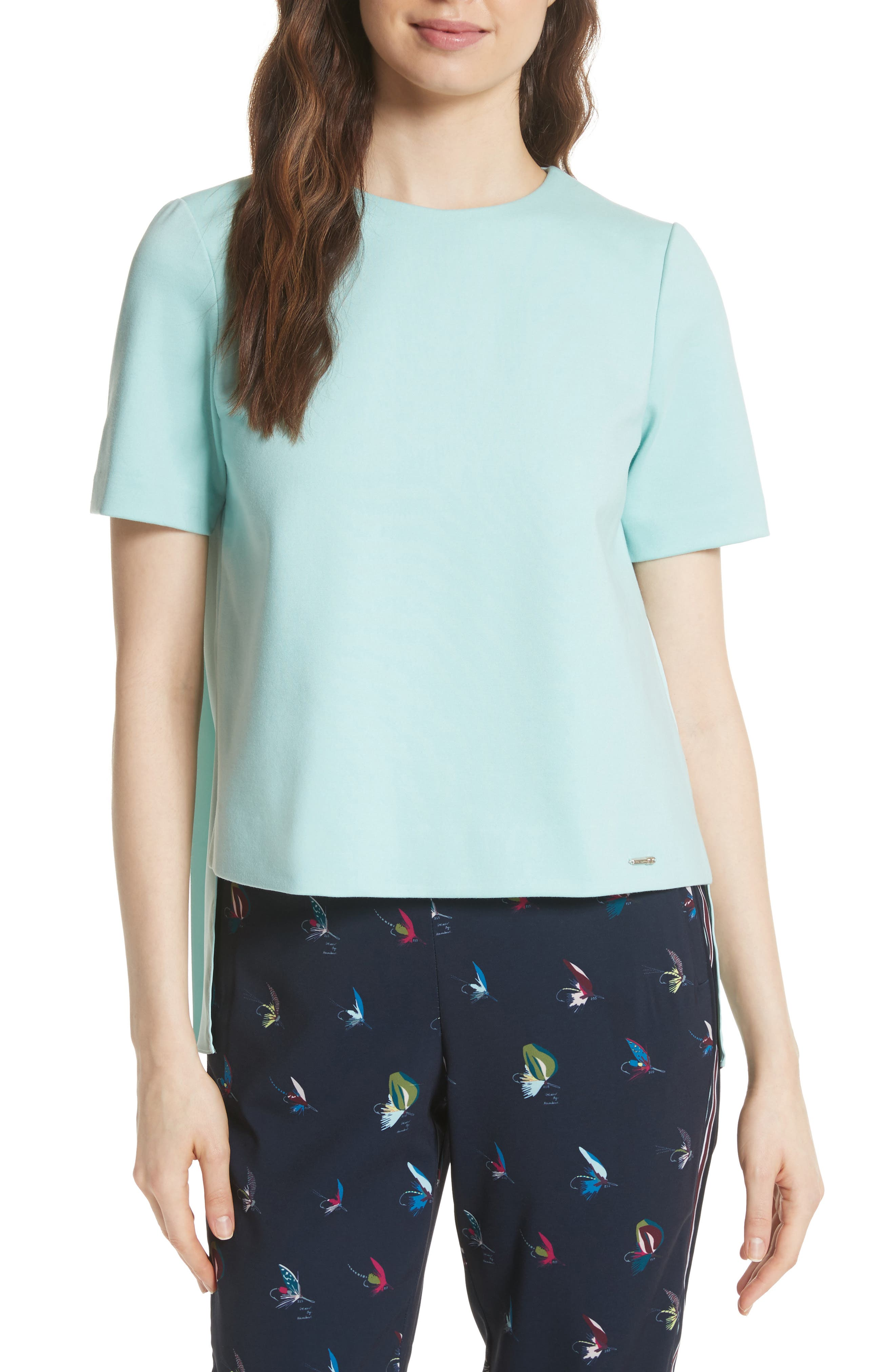 Colour by Numbers Naevaa Pleat Back Top,                         Main,                         color, Mint
