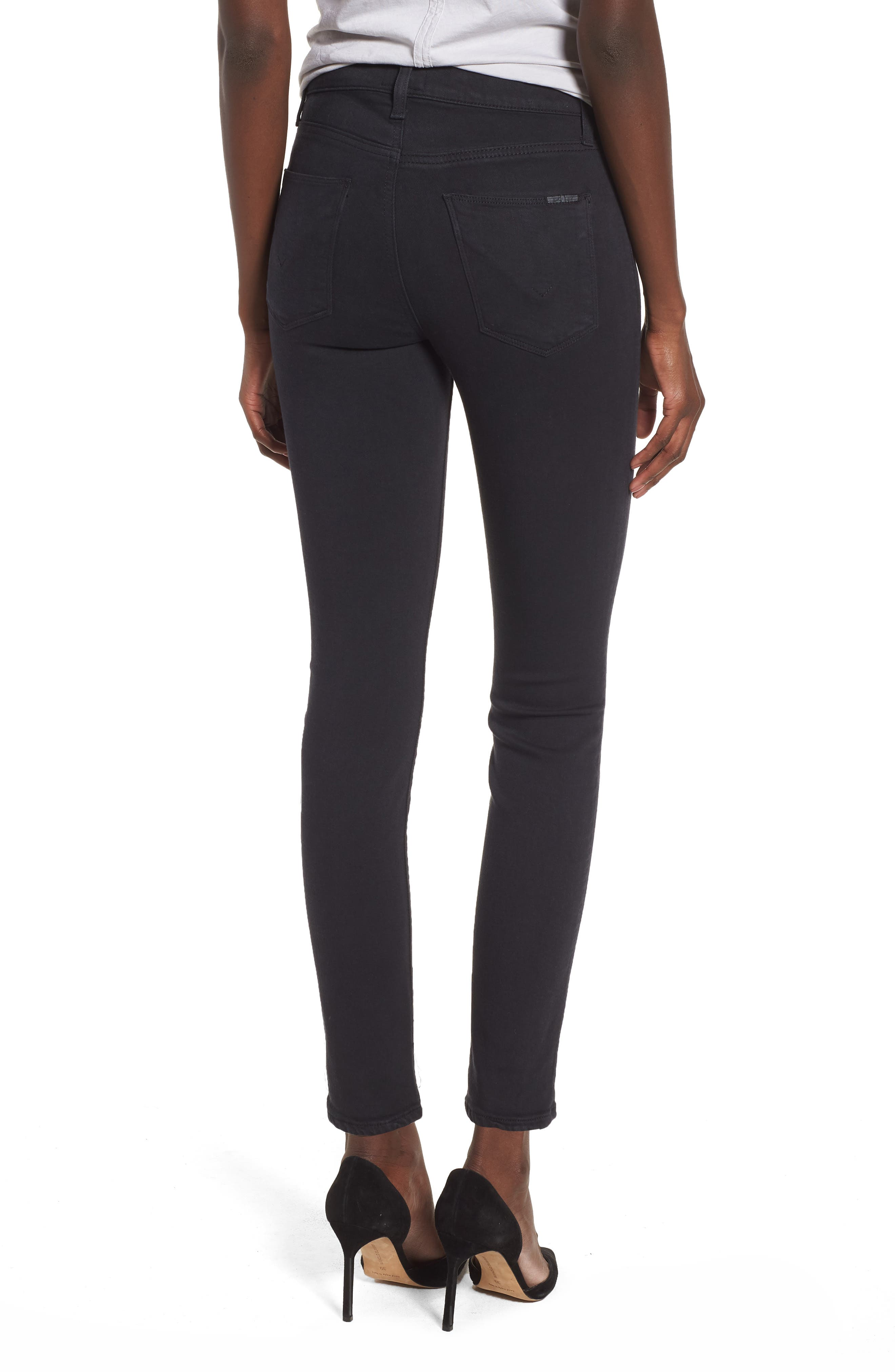 Barbara Exposed Zip High Waist Ankle Skinny Jeans,                             Alternate thumbnail 2, color,                             Maniac