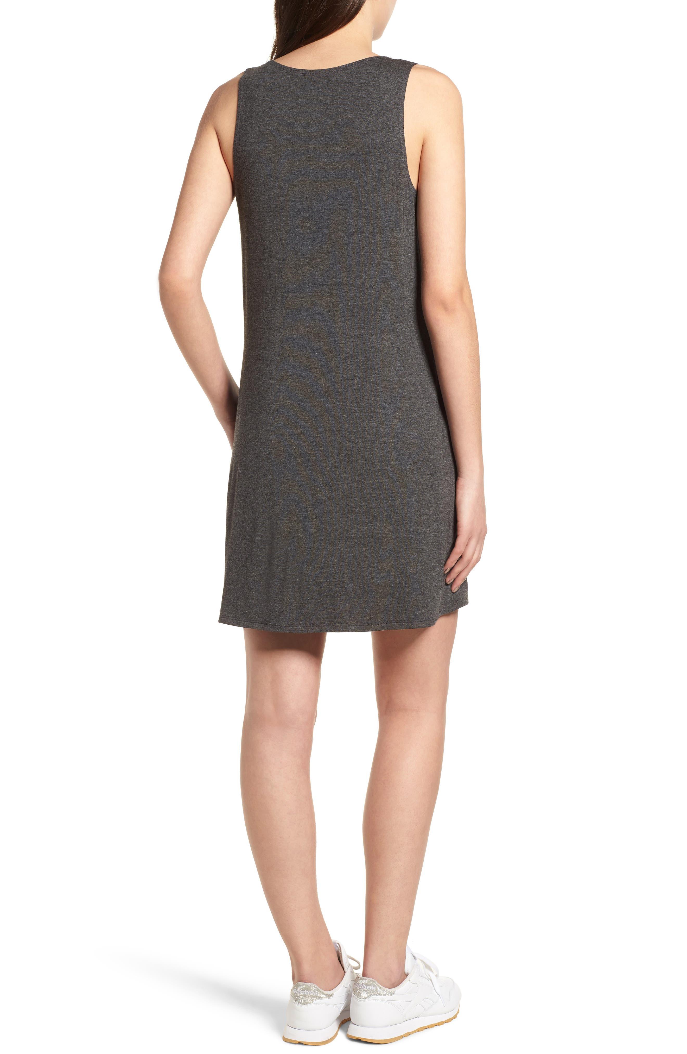 Pocket Tank Dress,                             Alternate thumbnail 2, color,                             Dark Charcoal