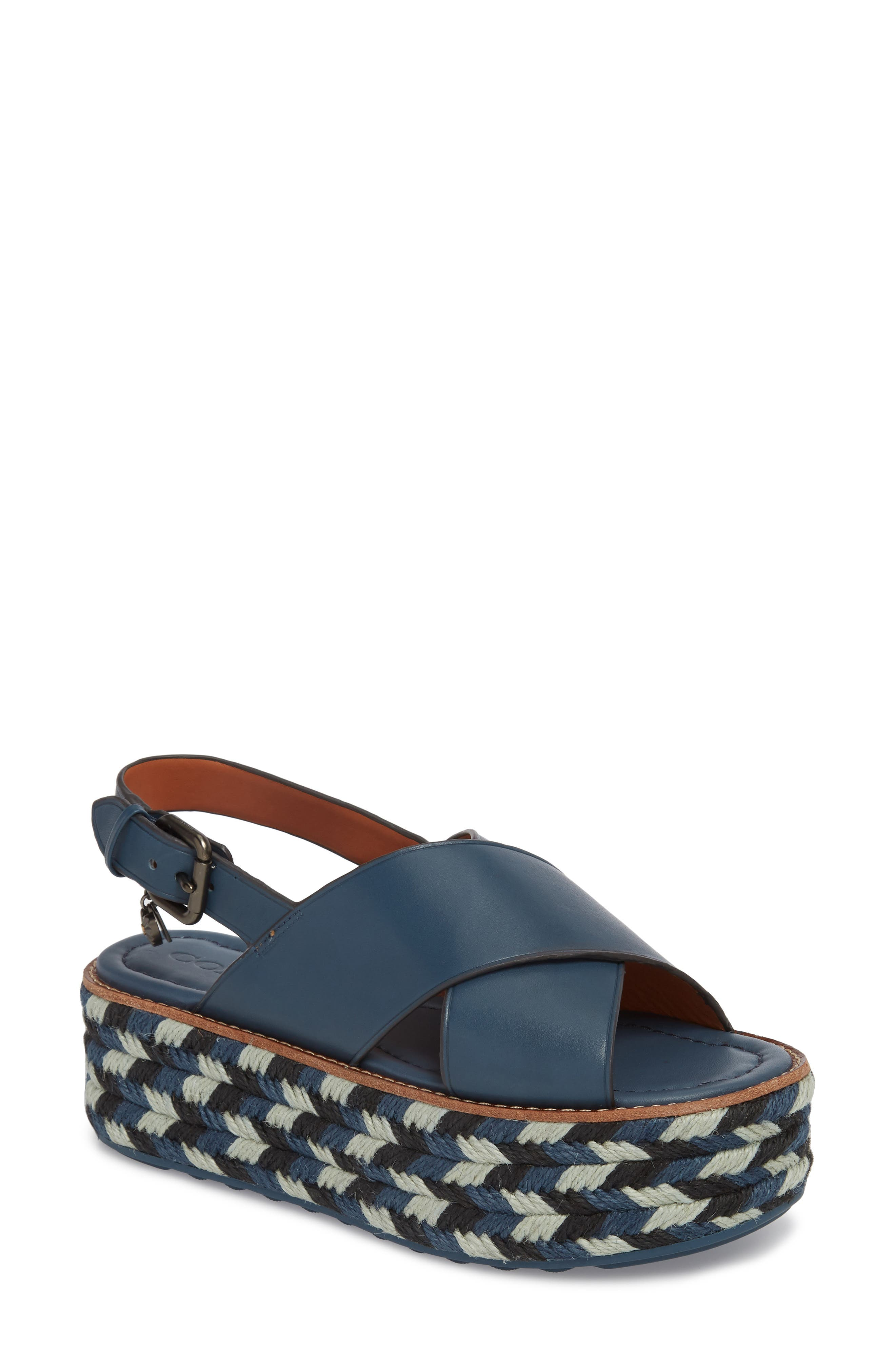 COACH Platform Wedge Sandal (Women)