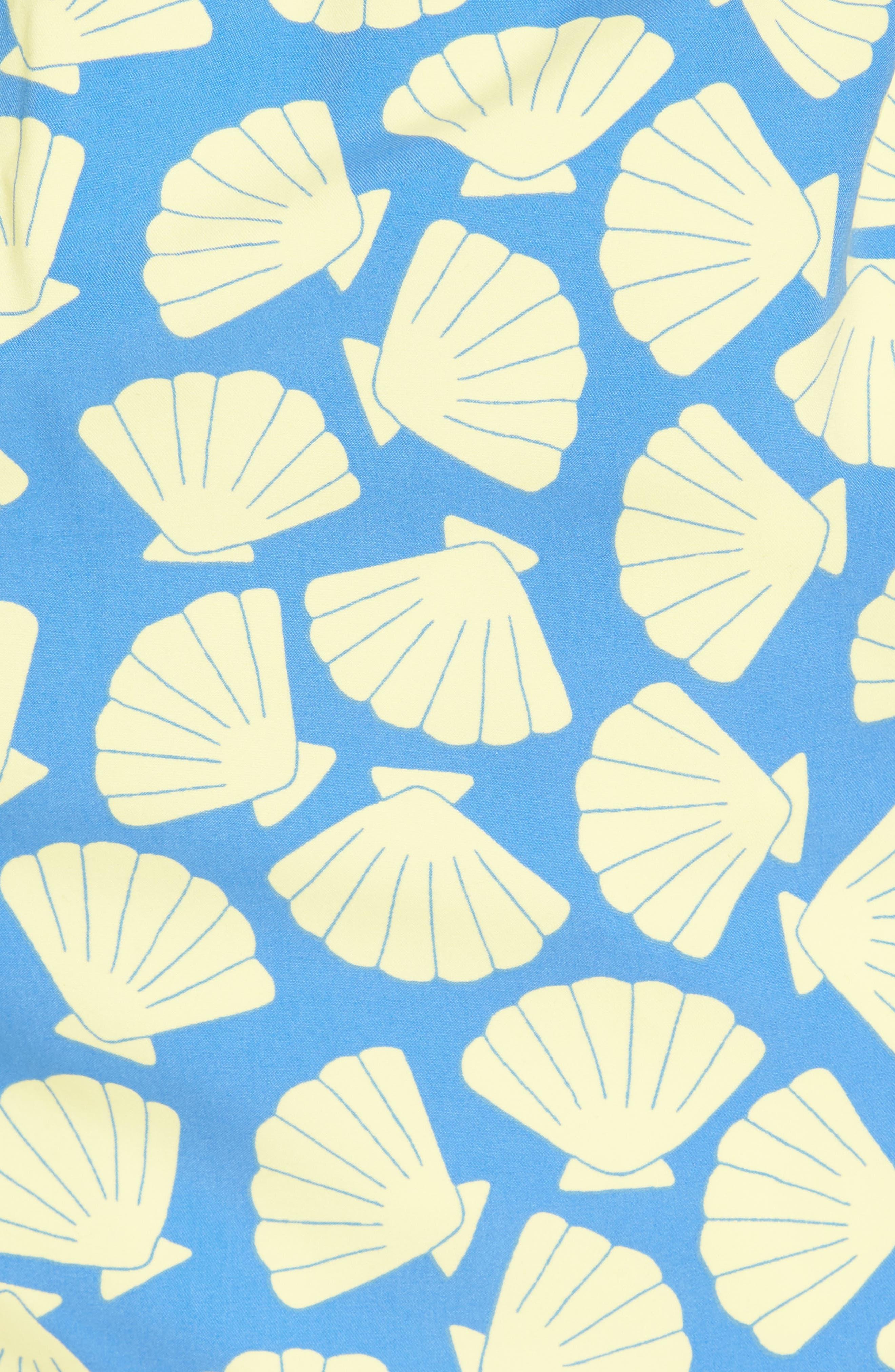 Shell Print Swim Trunks,                             Alternate thumbnail 5, color,                             Yellow