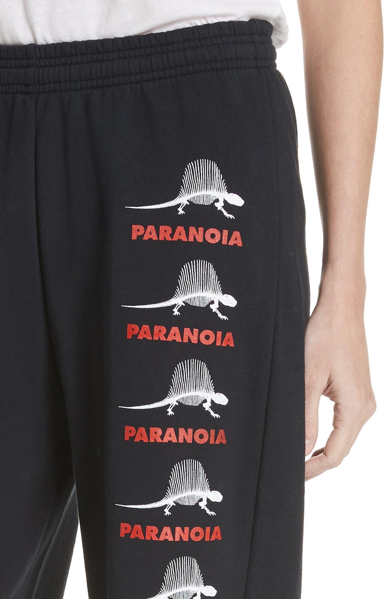 Paranoia Dino Joggers,                             Alternate thumbnail 4, color,                             Black