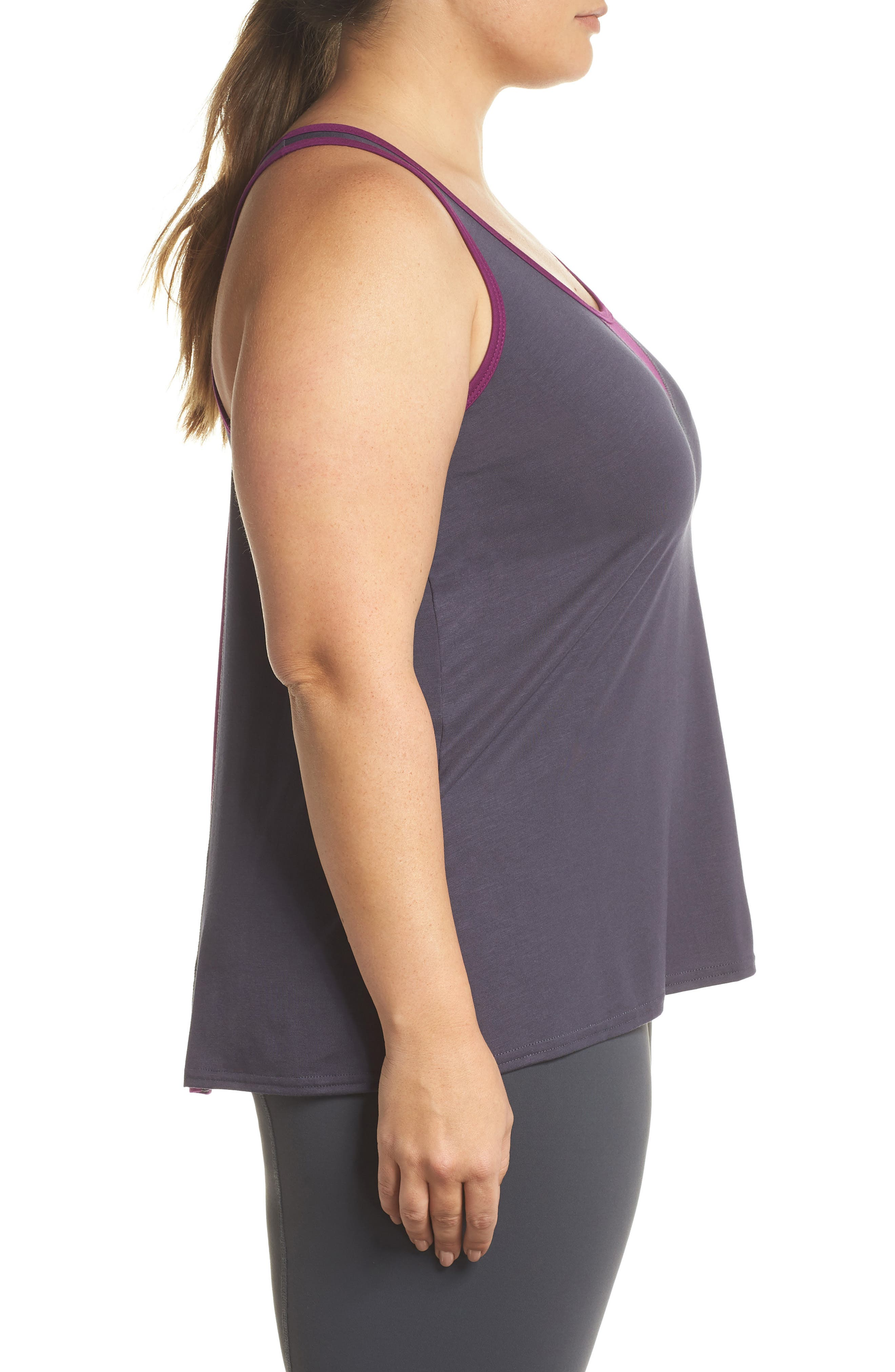 Easy Tank,                             Alternate thumbnail 3, color,                             Charcoal/ Plum