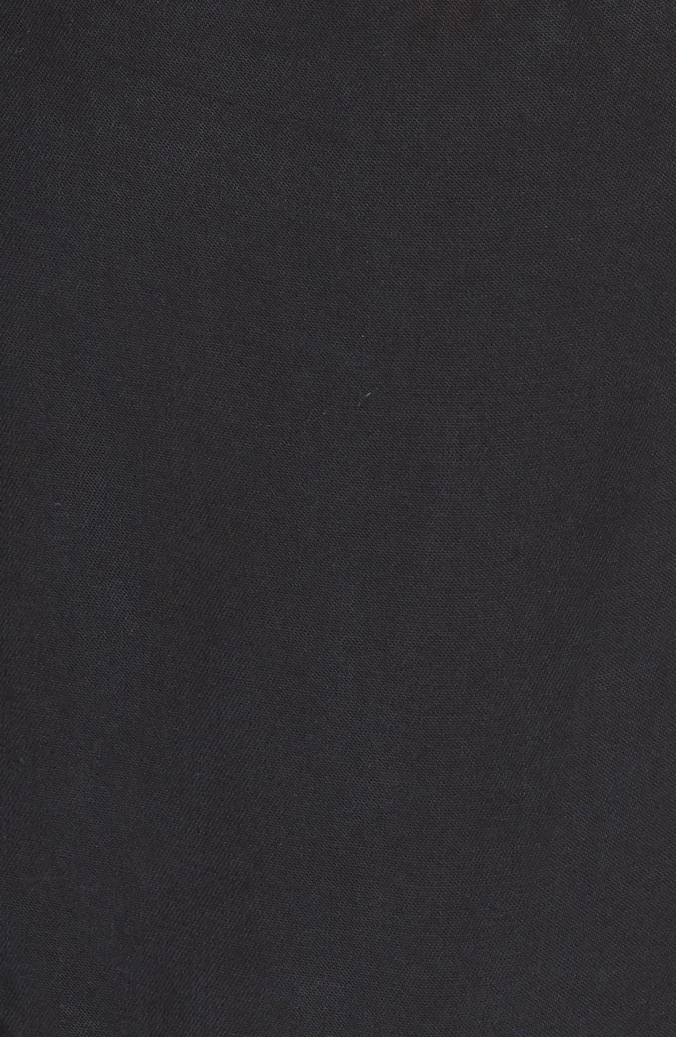 Emma Tie-Waist Jumpsuit,                             Alternate thumbnail 6, color,                             Black Pearl