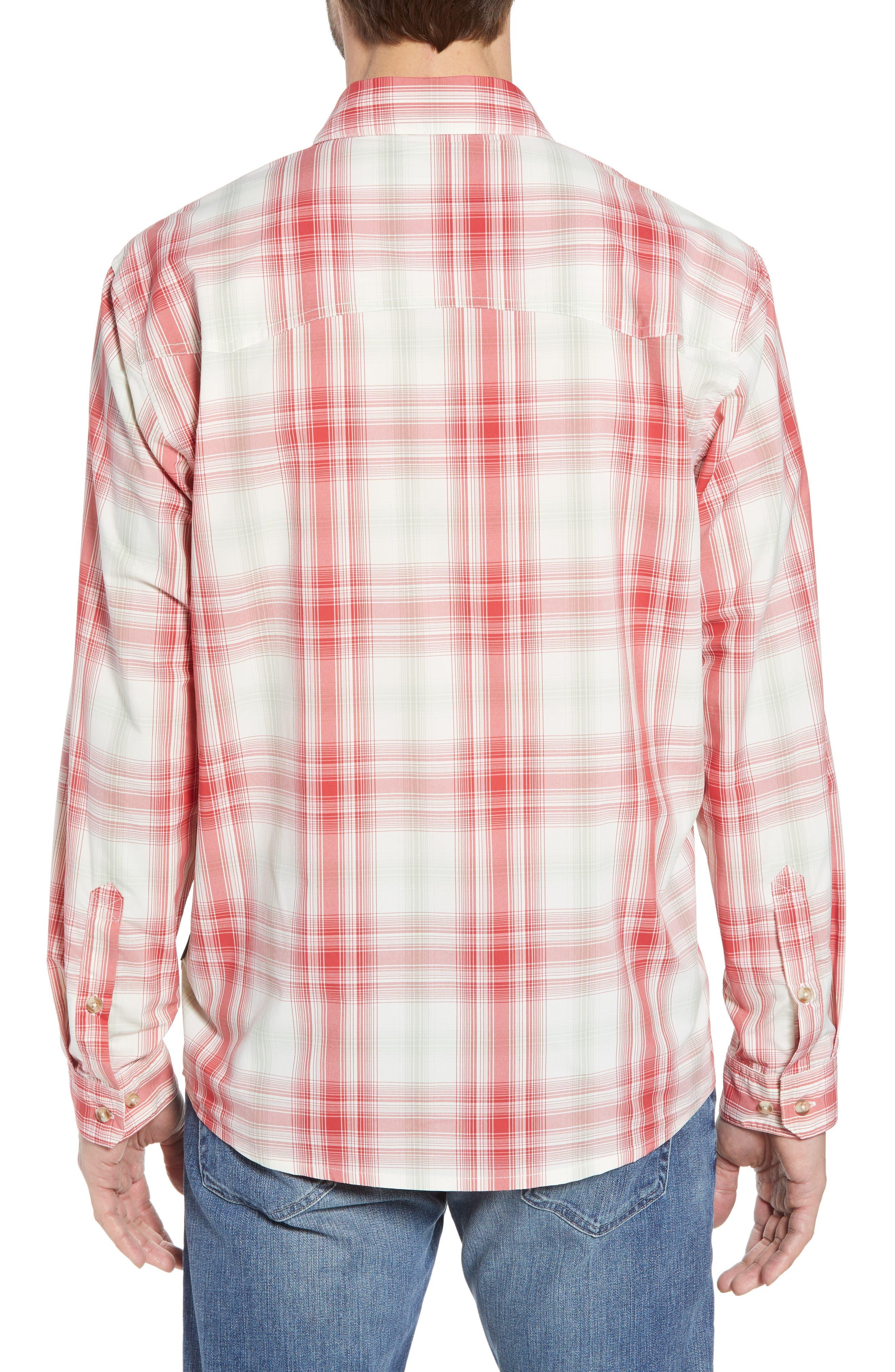 Regular Fit Plaid Sport Shirt,                             Alternate thumbnail 3, color,                             King Swing/ Static Red