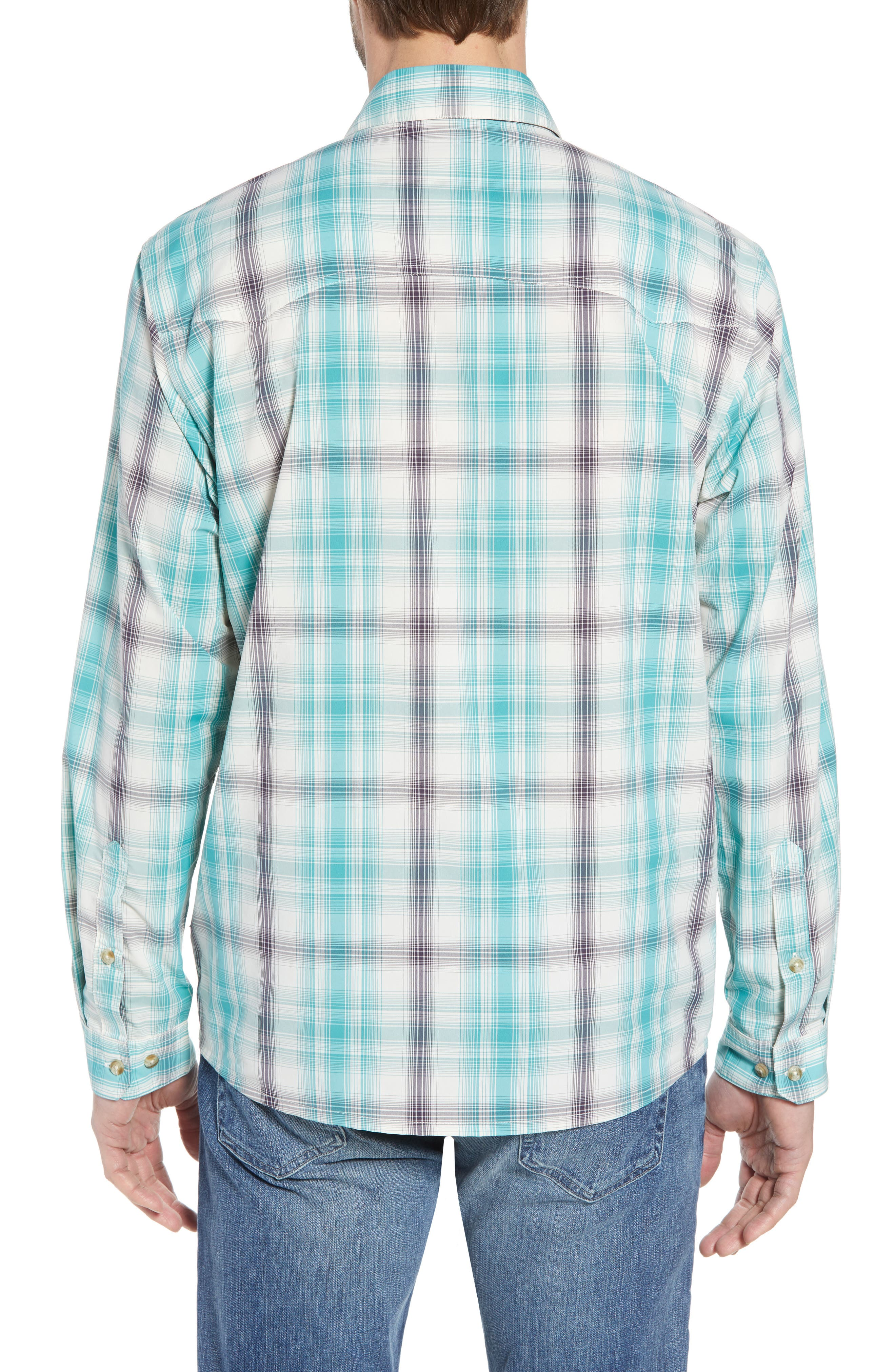 Regular Fit Plaid Sport Shirt,                             Alternate thumbnail 3, color,                             King Swing/ Piton Purple