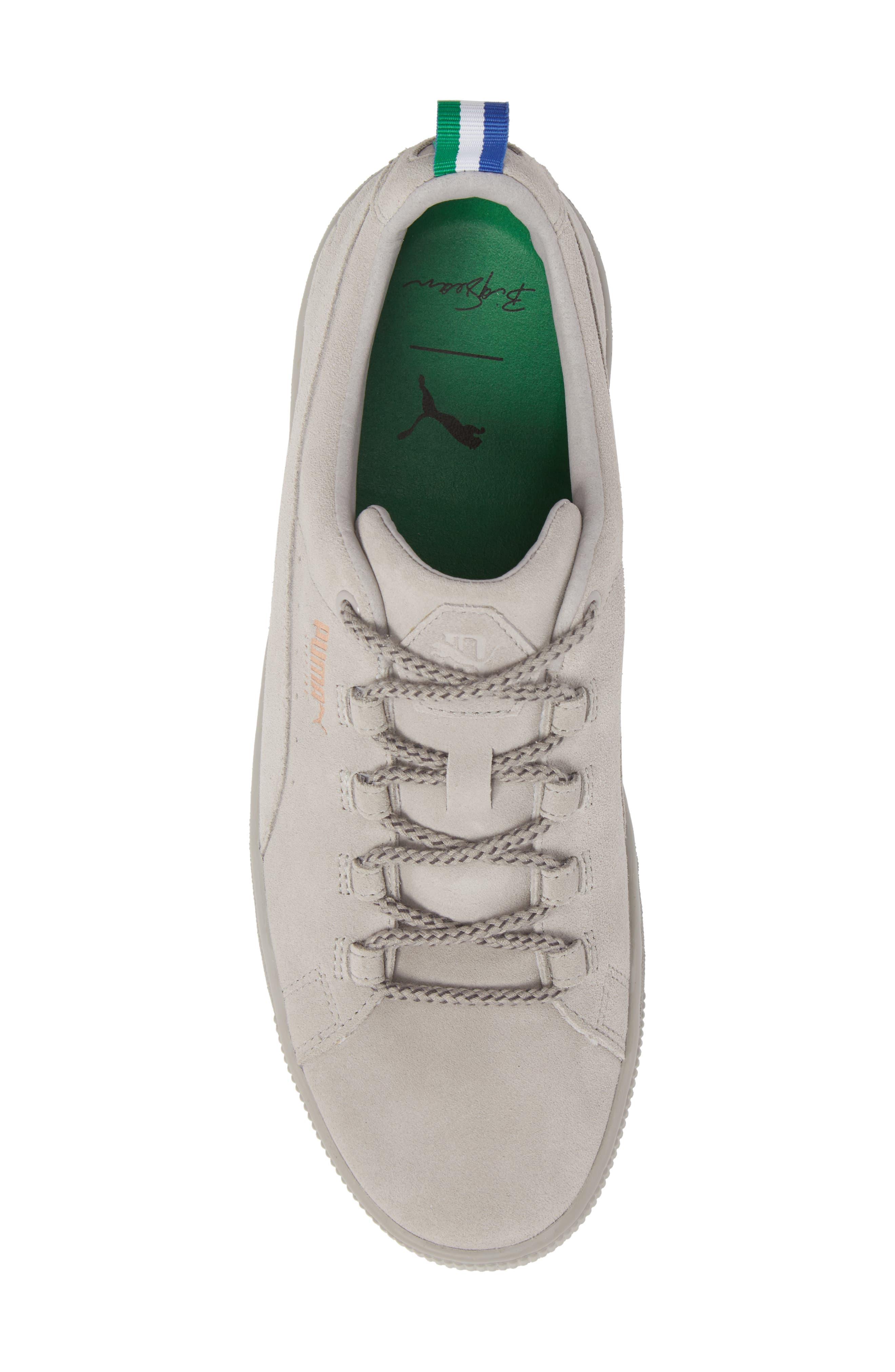 x Big Sean Suede Sneaker,                             Alternate thumbnail 5, color,                             Ash Leather/ Suede