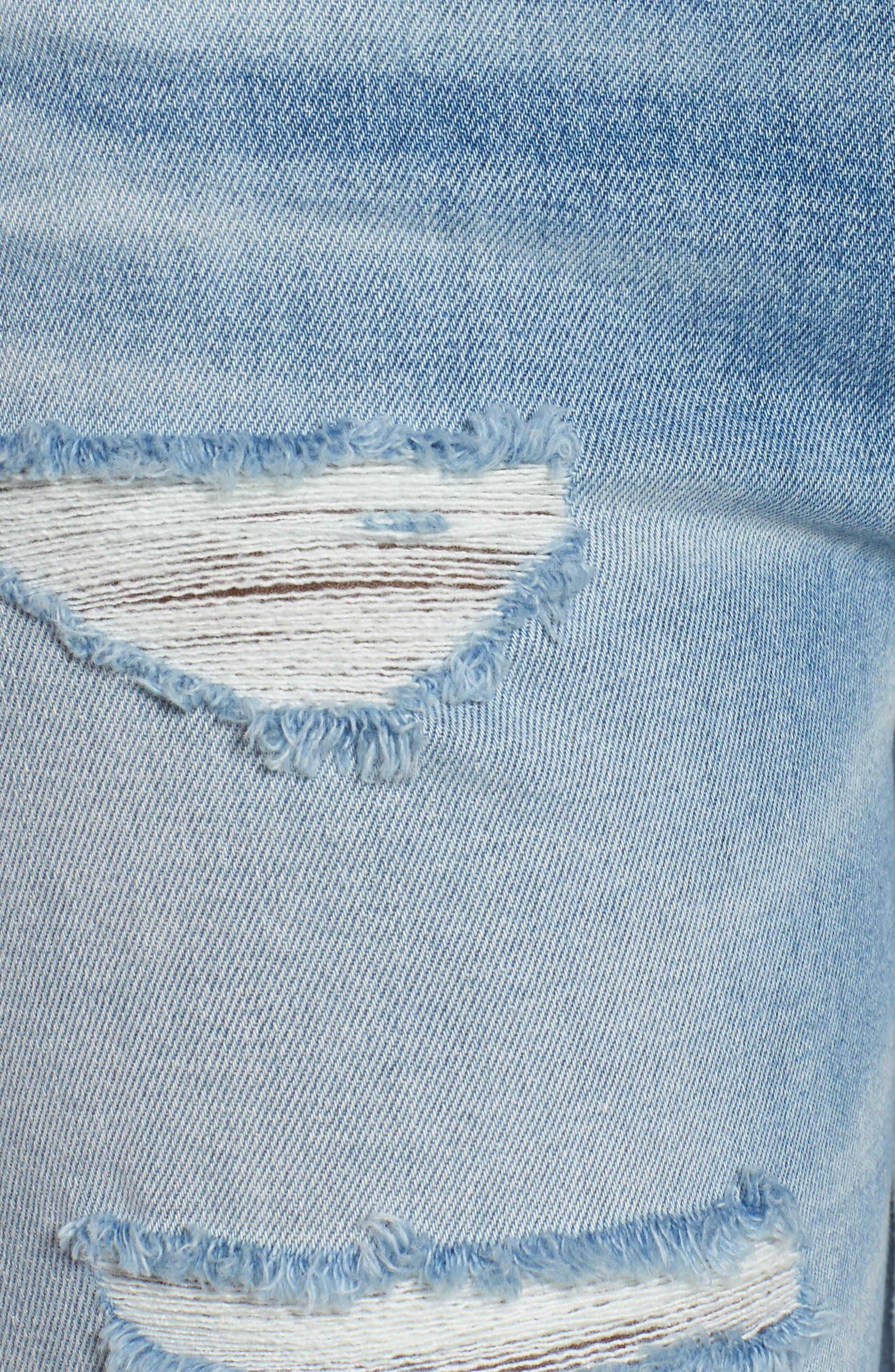 Alternate Image 5  - Hudson Jeans Zoeey High Waist Cutoff Boyfriend Shorts (Love St.)