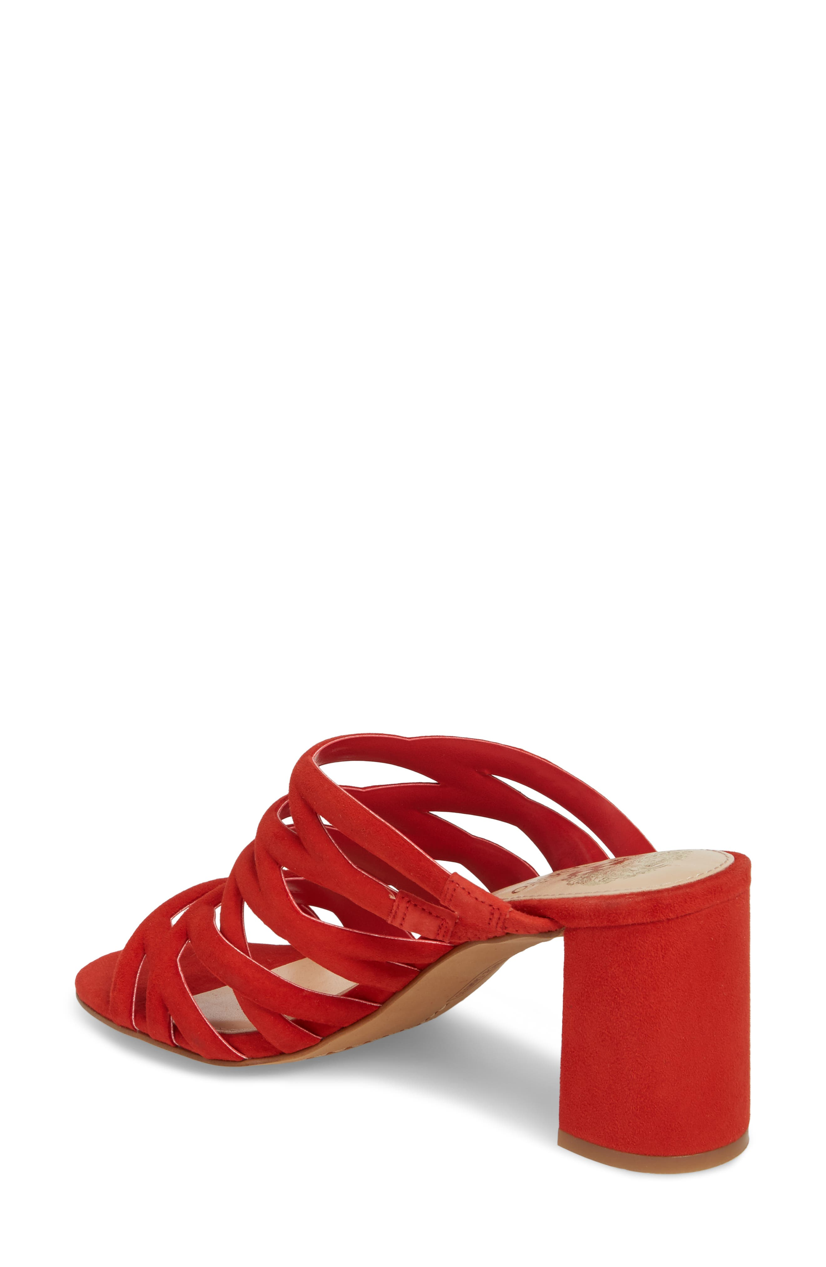 Raveana Cage Mule,                             Alternate thumbnail 2, color,                             Red Hot Rio Suede