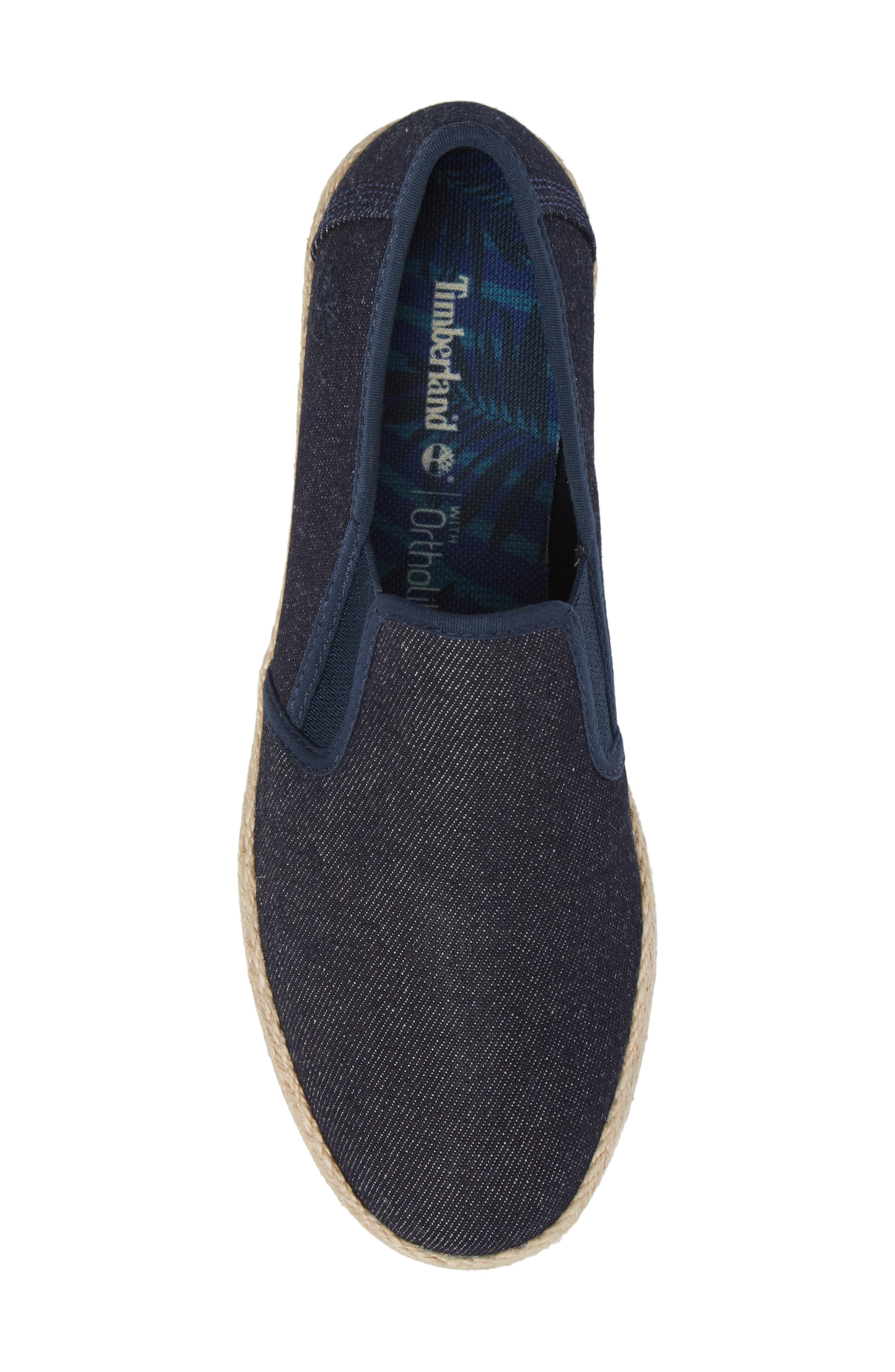 Eivissa Sea Slip-On Sneaker,                             Alternate thumbnail 5, color,                             Navy Canvas
