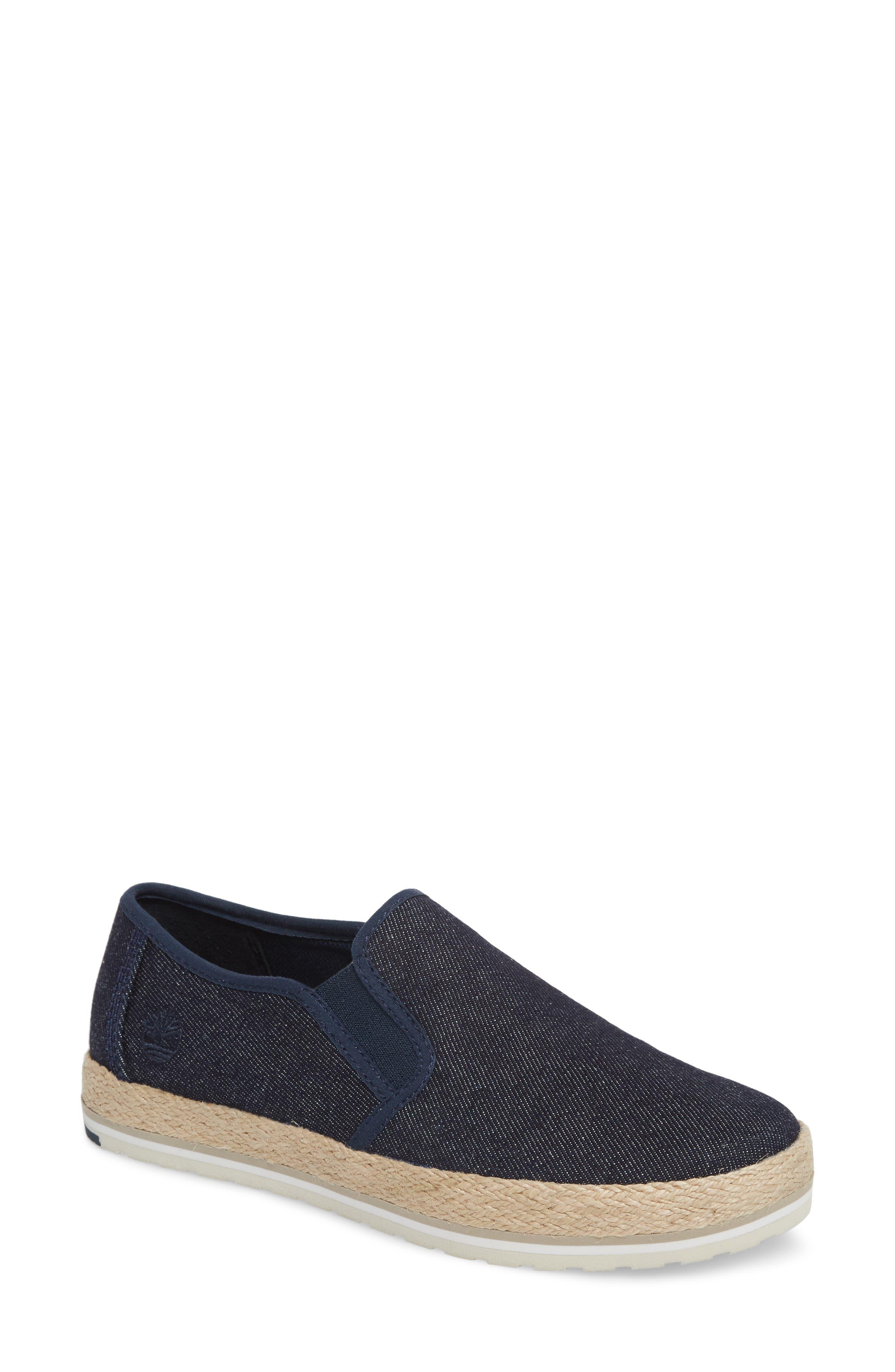 Eivissa Sea Slip-On Sneaker,                             Main thumbnail 1, color,                             Navy Canvas