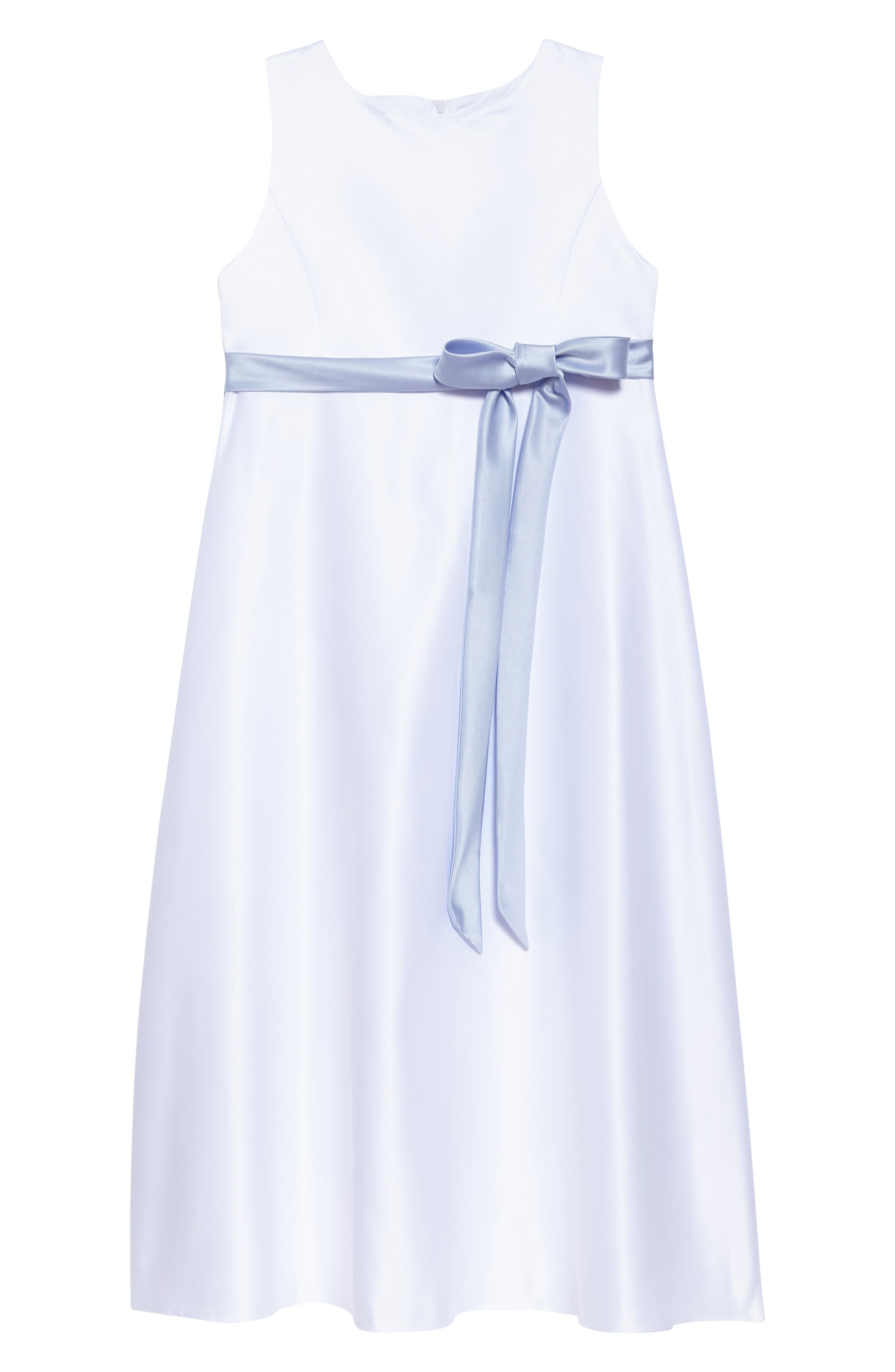 Main Image - Us Angels Sleeveless Satin Dress (Toddler Girls, Little Girls & Big Girls)