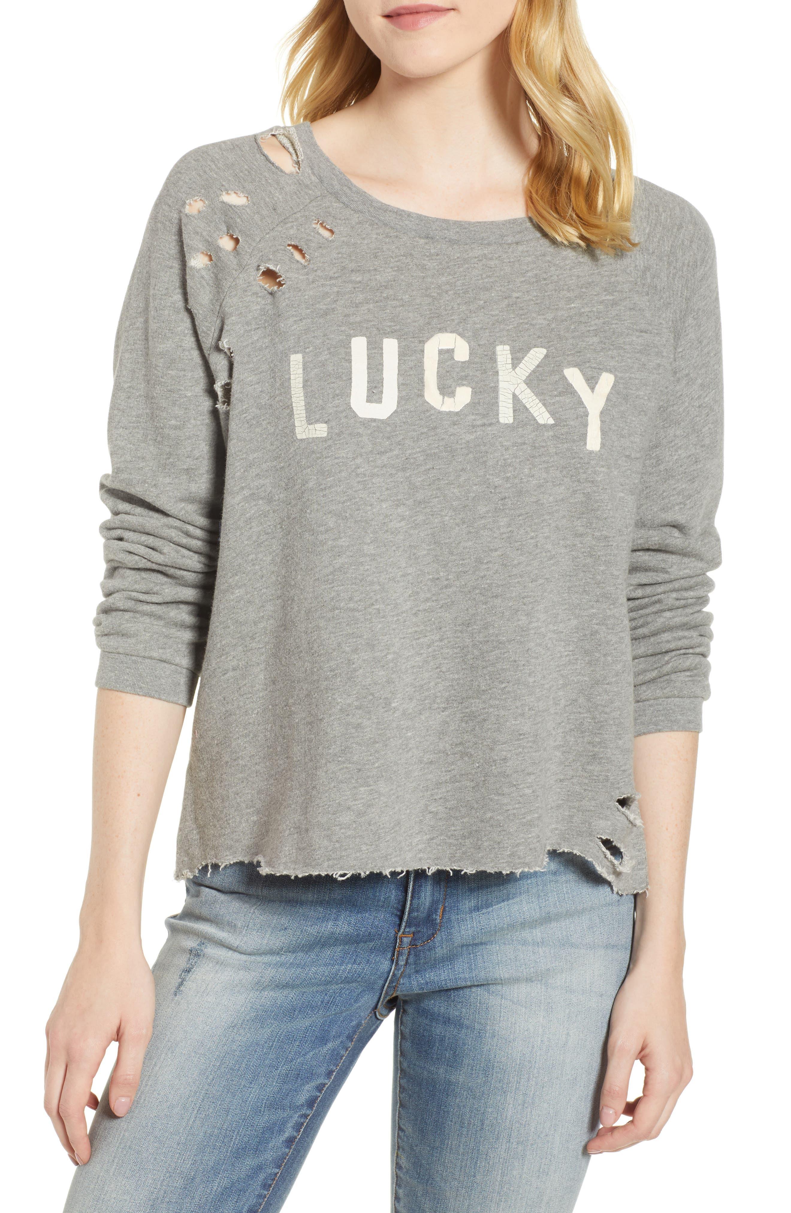 Lucky Brand Deconstructed Sweatshirt