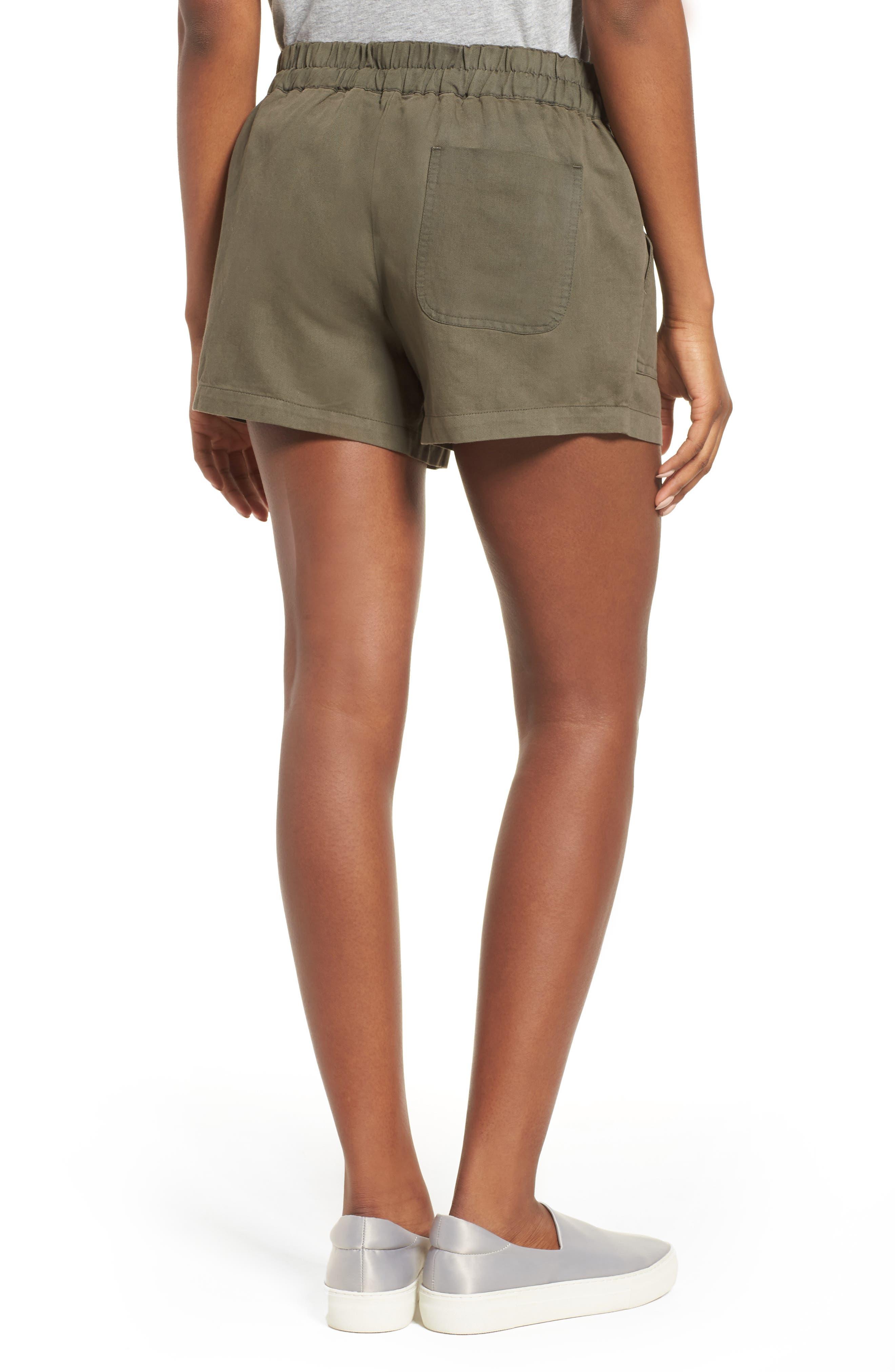 Drawstring Cotton Shorts,                             Alternate thumbnail 2, color,                             Pine