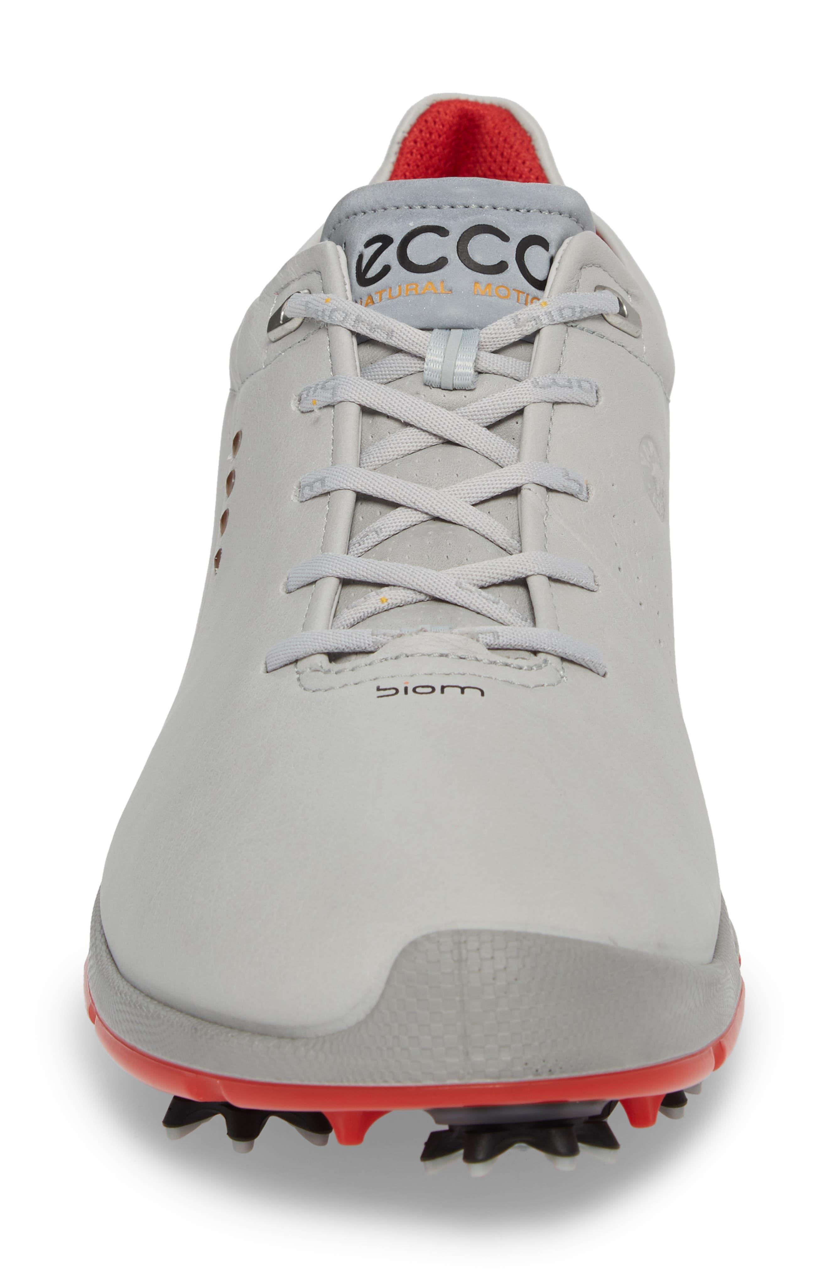 BIOM G 2 Free Gore-Tex<sup>®</sup> Golf Shoe,                             Alternate thumbnail 4, color,                             Concrete/ Scarlet Leather