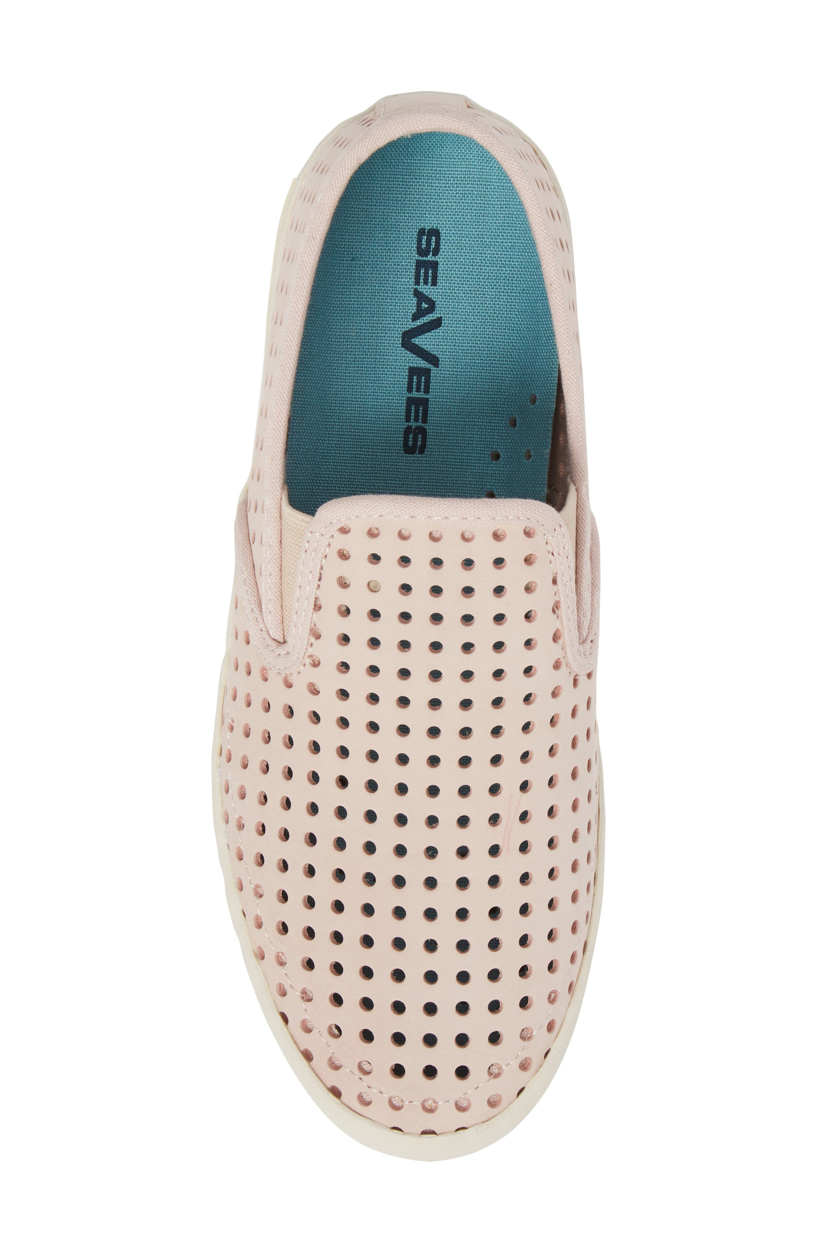Baja Perforated Slip-On Sneaker,                             Alternate thumbnail 5, color,                             Rose Quartz