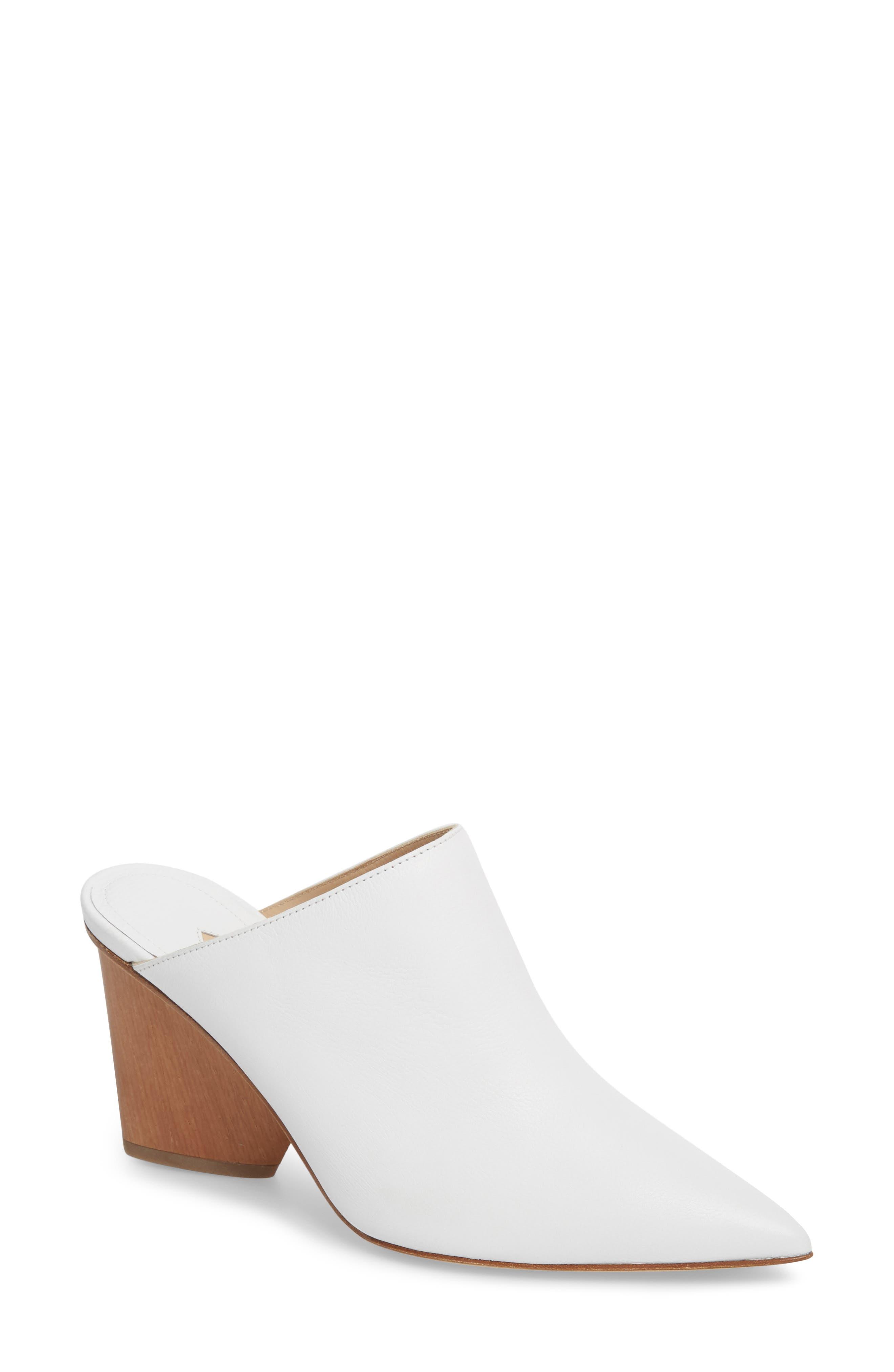 Ester Statement Heel Mule,                         Main,                         color, White