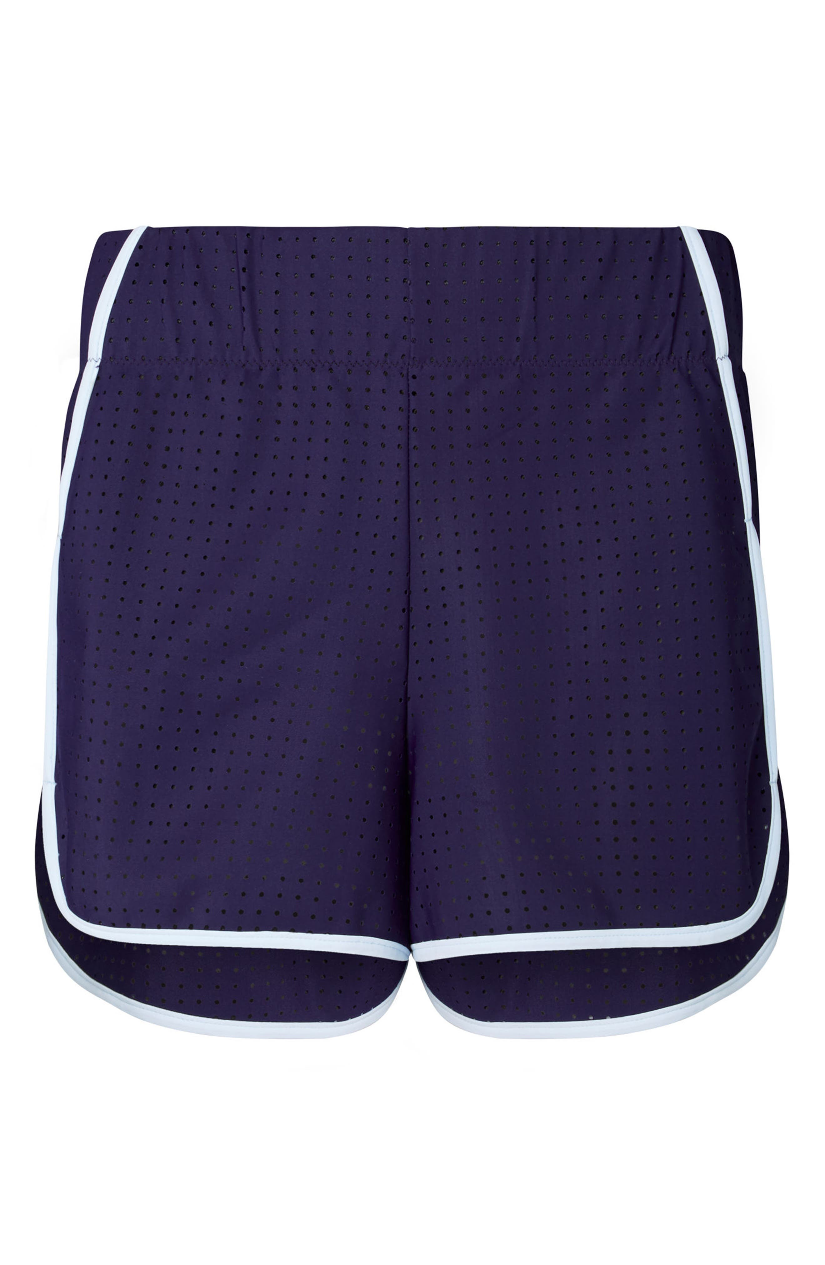 High Waist Track Shorts,                             Alternate thumbnail 5, color,                             Navy