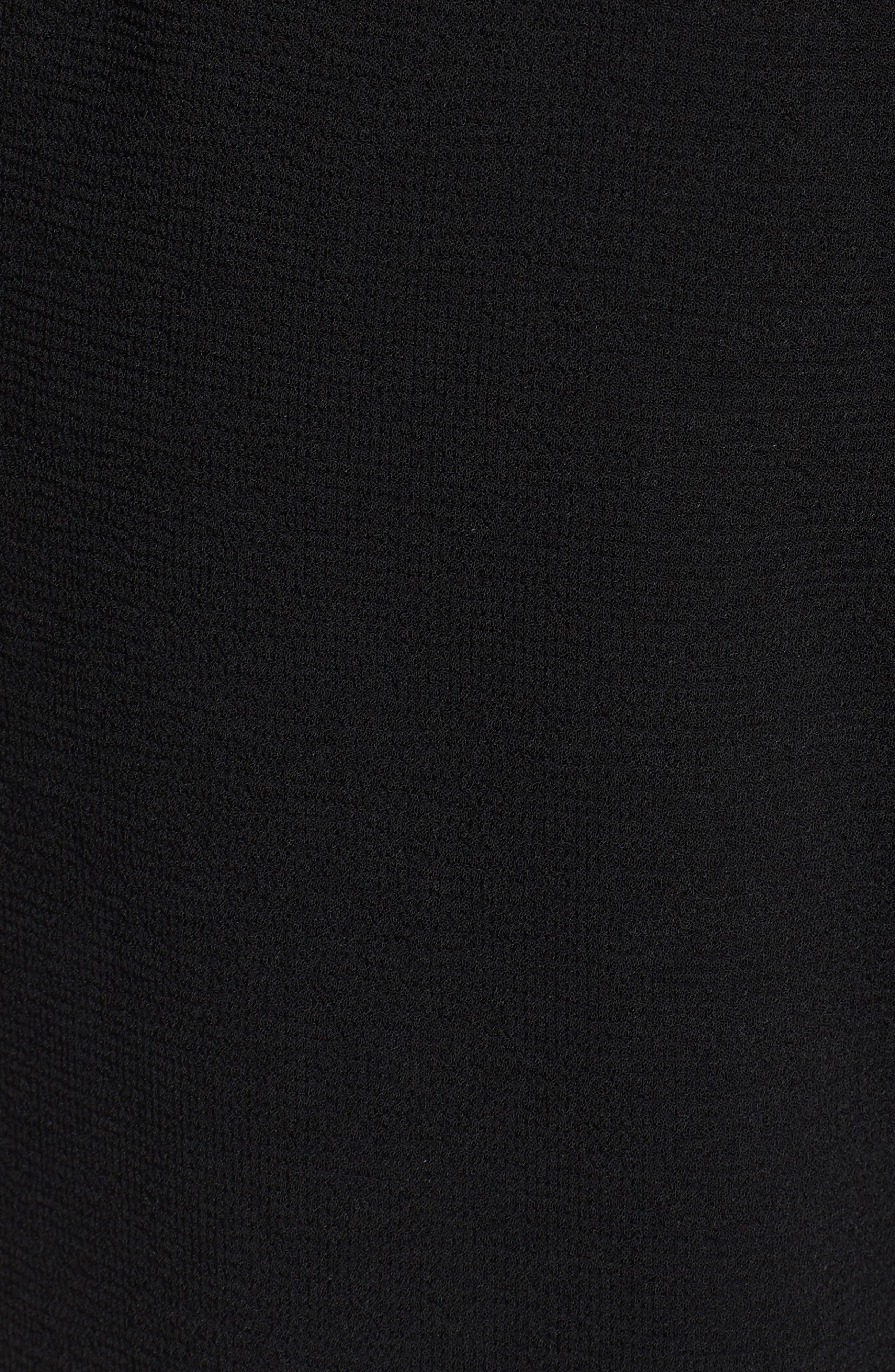 Trouvé Tie Front Wide Leg Pants,                             Alternate thumbnail 6, color,                             Black