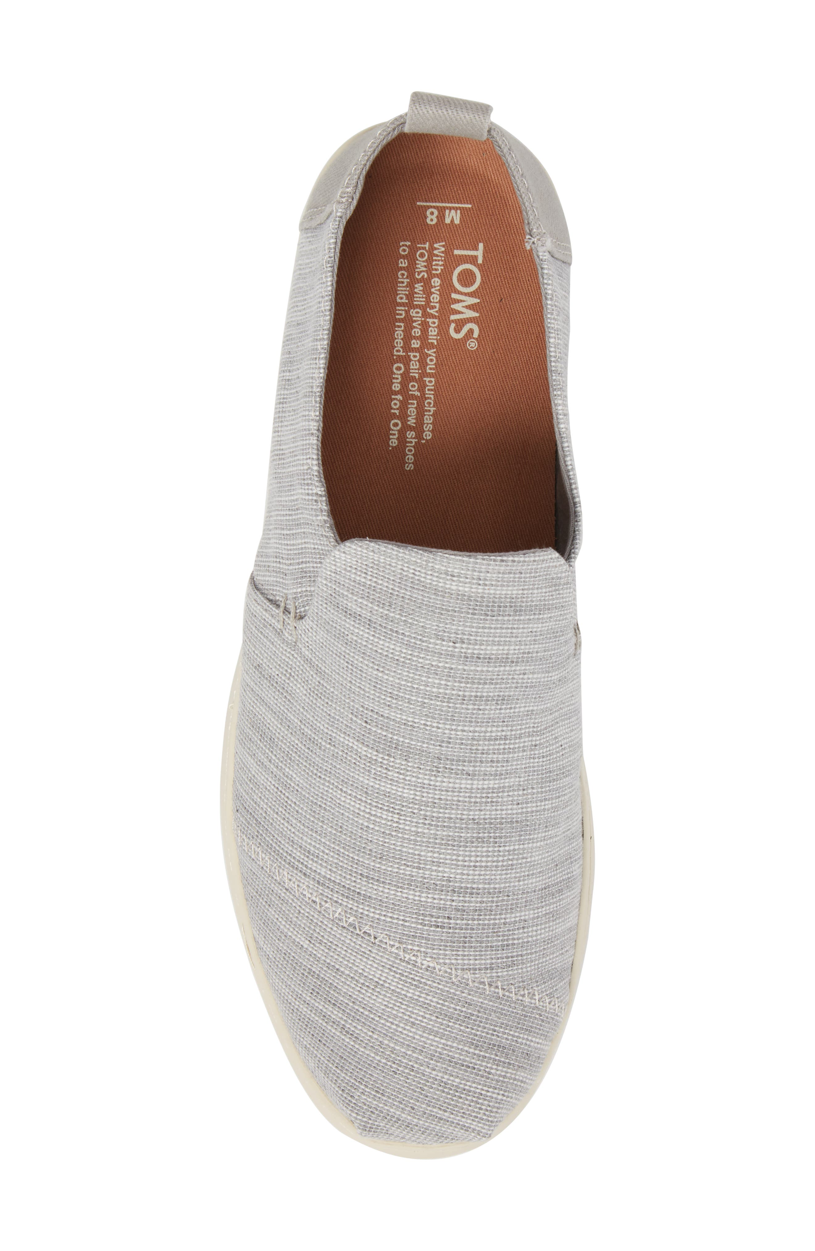 Deconstructed Alpargata Slip-On,                             Alternate thumbnail 5, color,                             Drizzle Striped Chambray