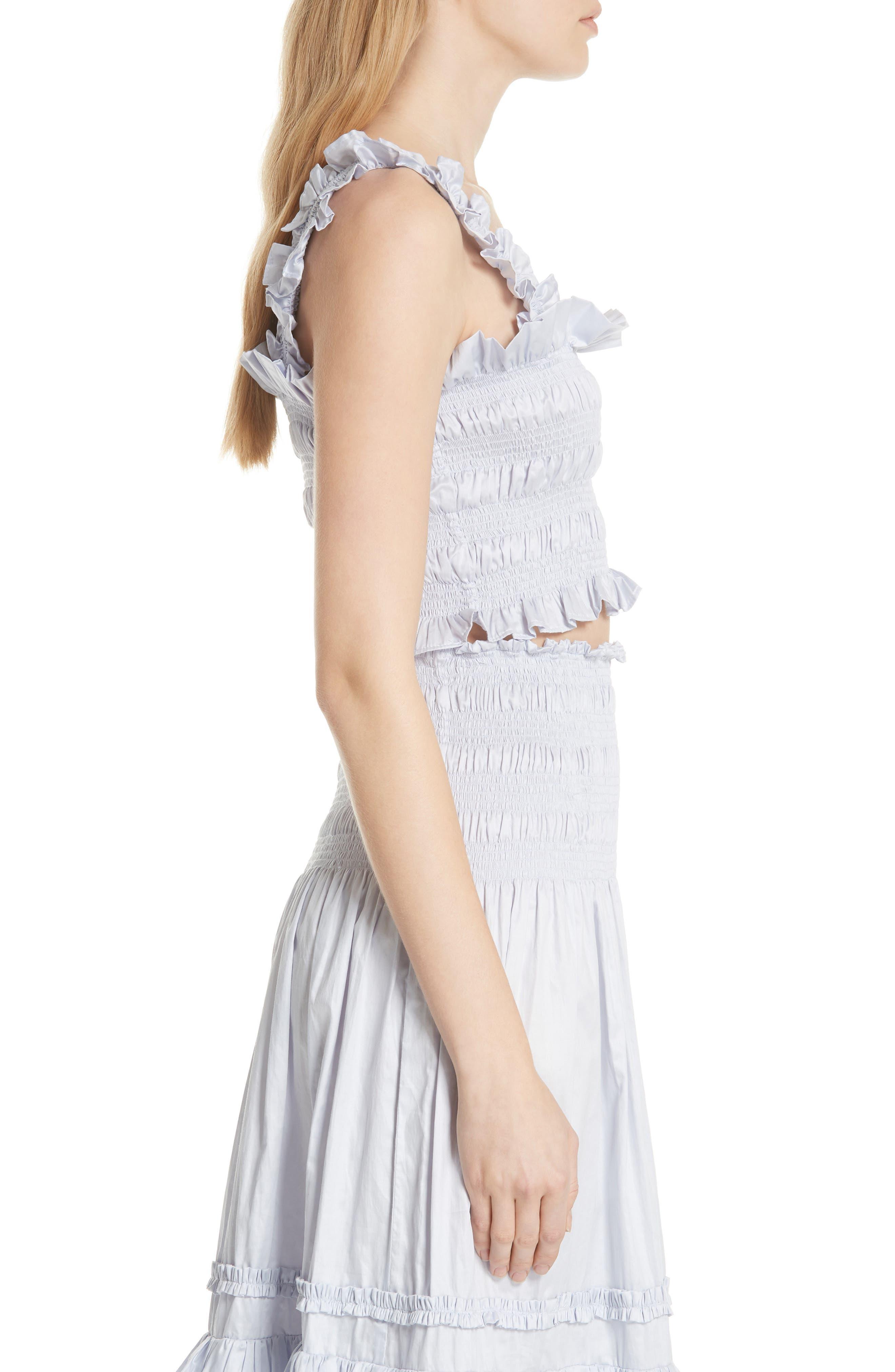 Alternate Image 3  - Rebecca Taylor Smocked Sleeveless Cotton Top