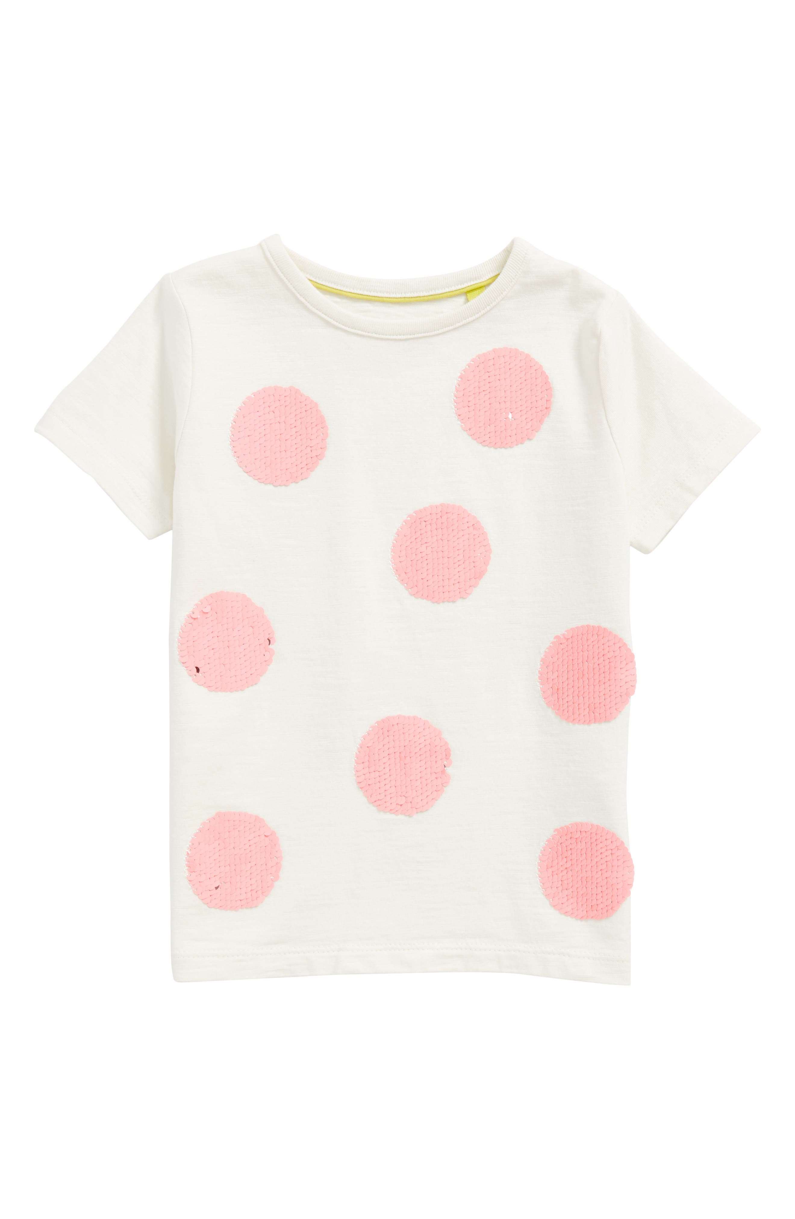 Reversible Sequin Spot Tee,                             Main thumbnail 1, color,                             Ivory
