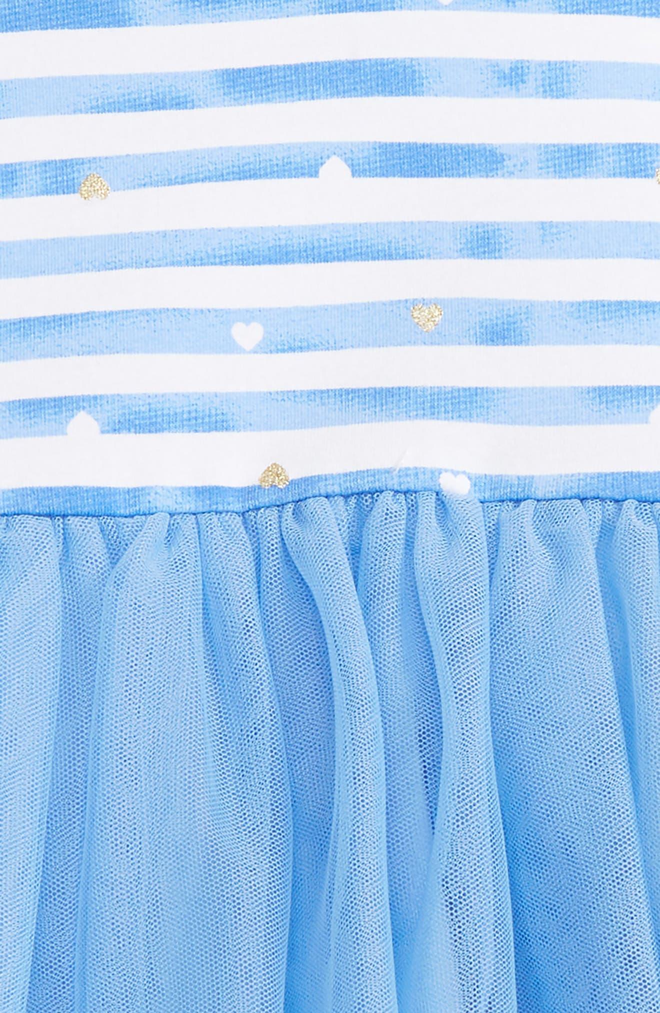 Stripe Dress & Leggings Set,                             Alternate thumbnail 2, color,                             Periwinkle