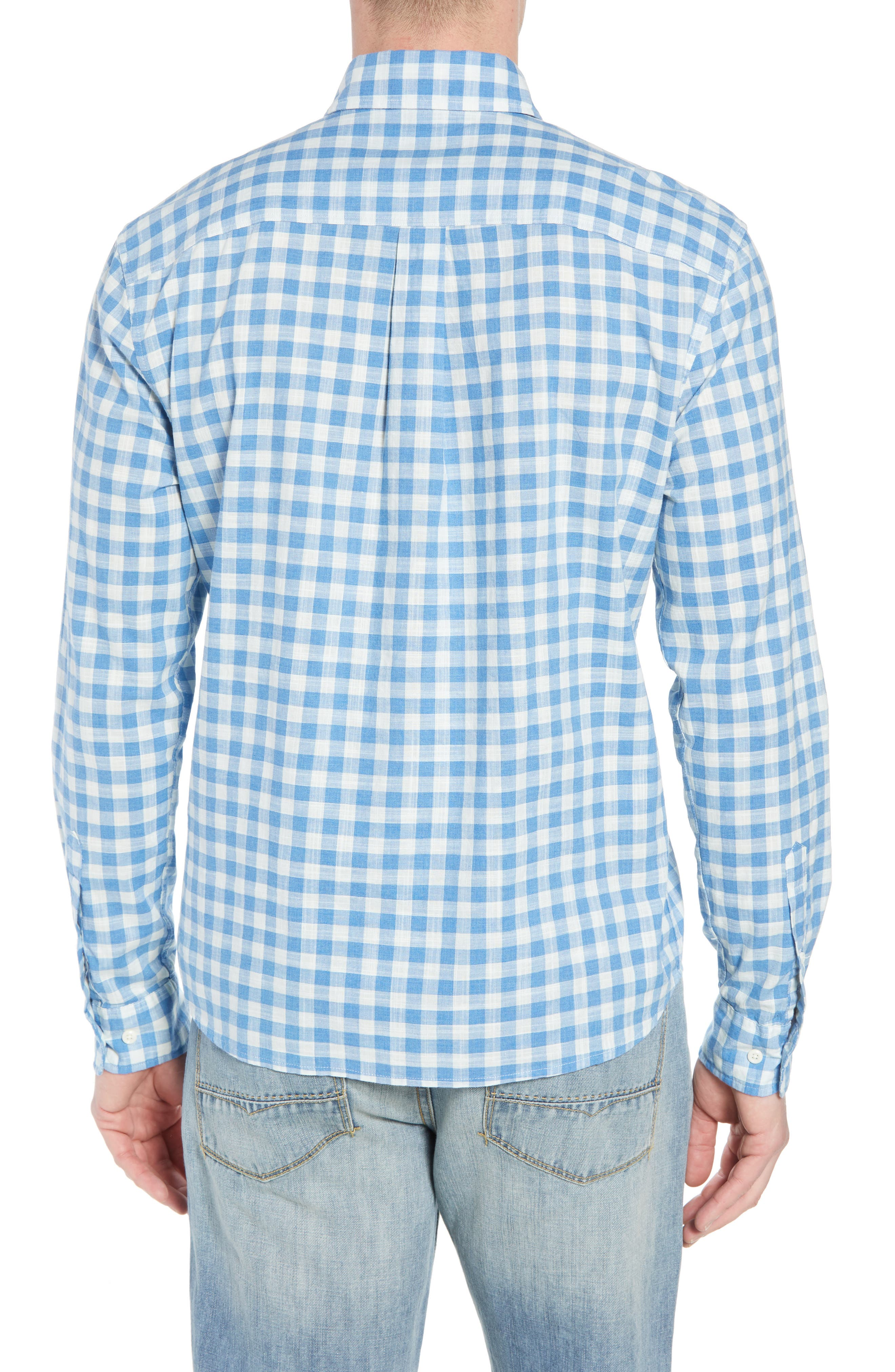 Watts Regular Fit Sport Shirt,                             Alternate thumbnail 3, color,                             Regatta