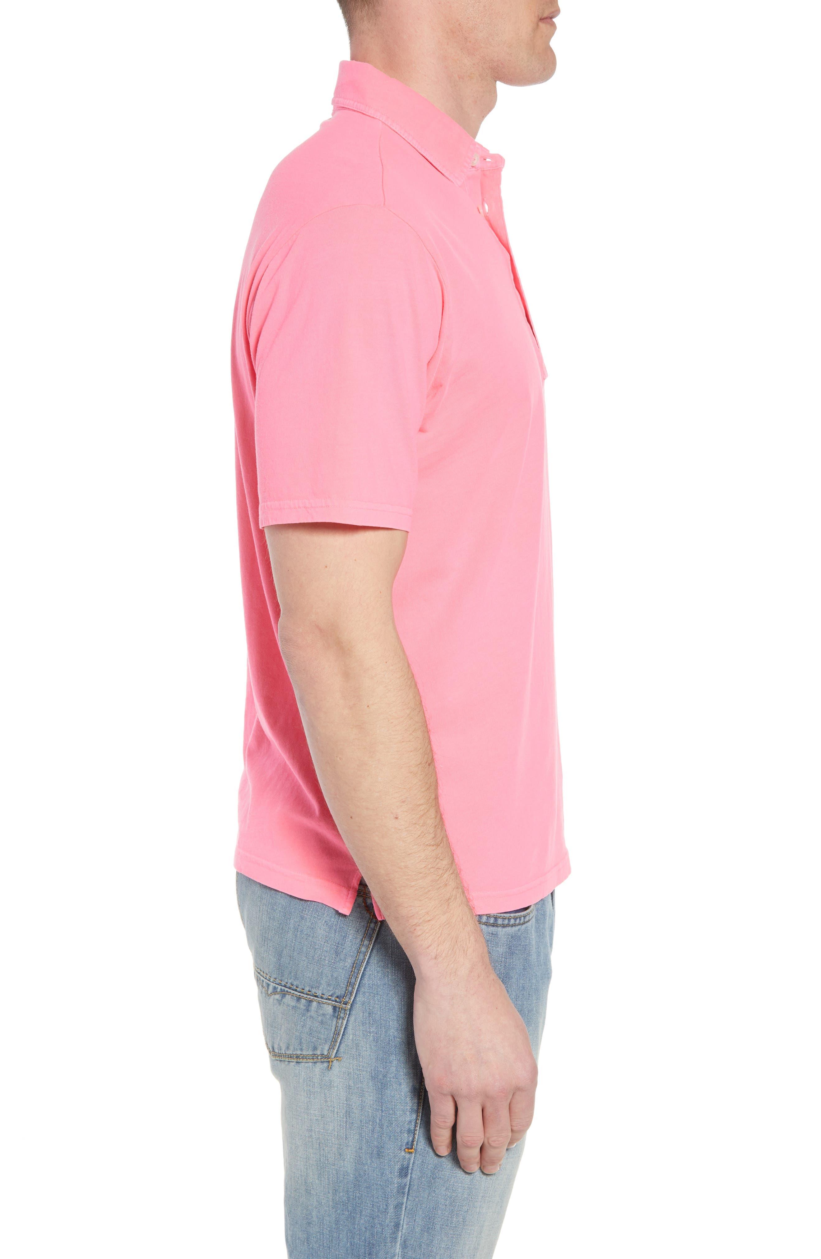 Original Regular Fit Garment Dyed Polo,                             Alternate thumbnail 3, color,                             Neon Pink