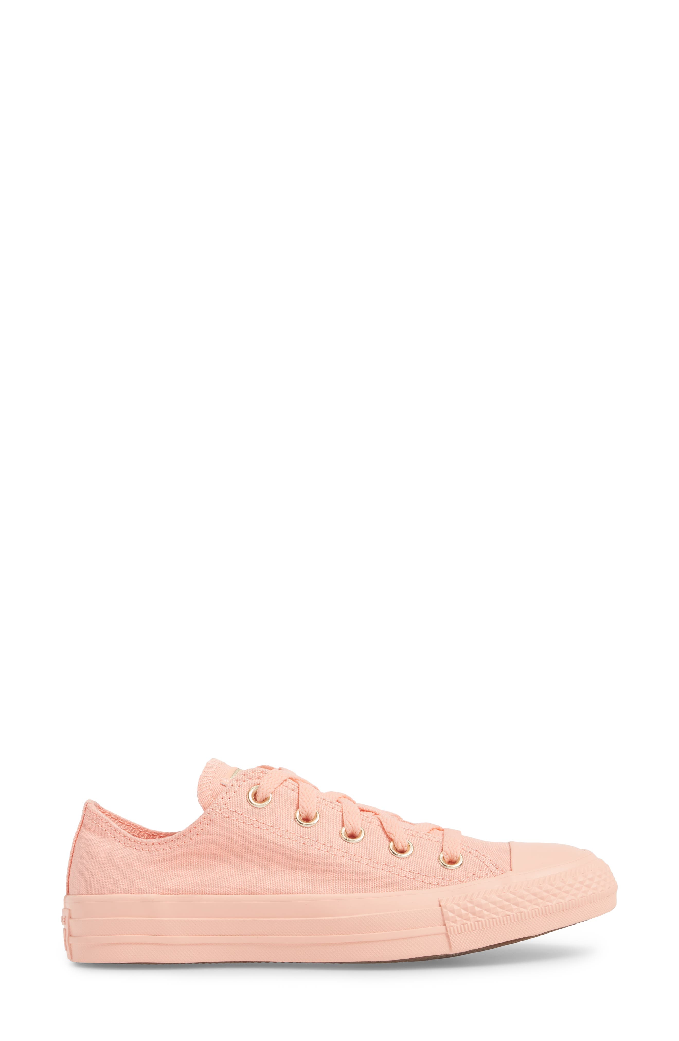 Chuck Taylor<sup>®</sup> All Star<sup>®</sup> Seasonal Color Sneaker,                             Alternate thumbnail 3, color,                             Pale Coral
