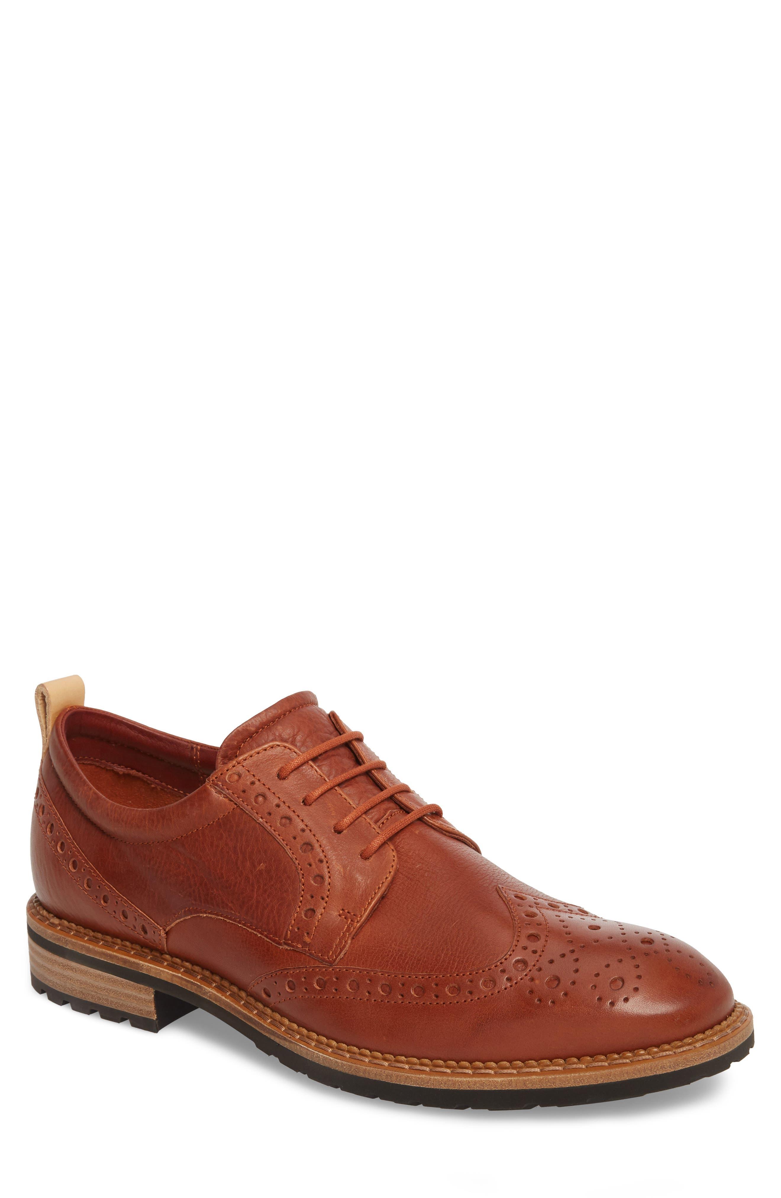 Vitrus I Wingtip,                         Main,                         color, Brandy Leather