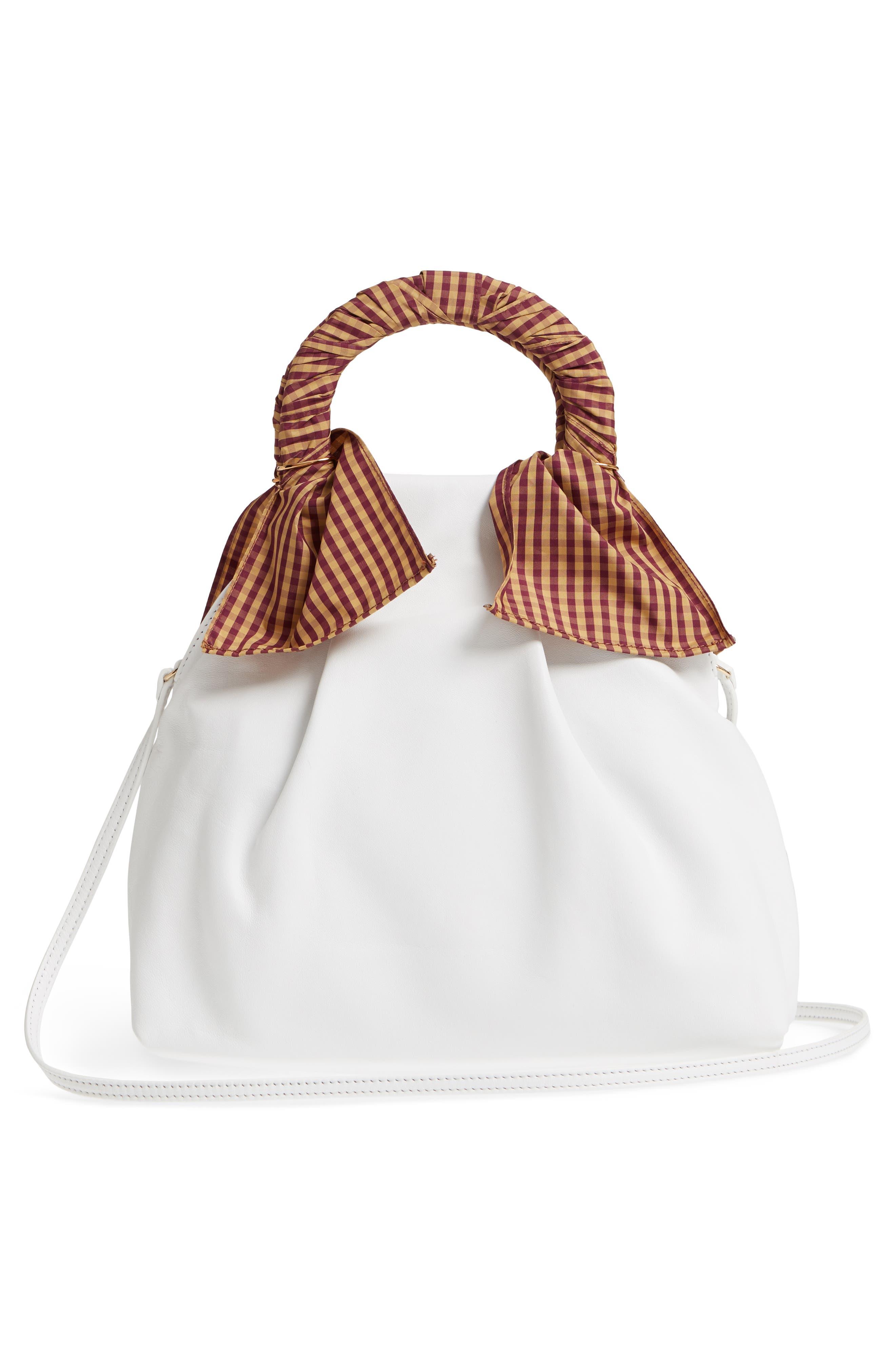 Hazel Leather Shopper,                             Alternate thumbnail 3, color,                             White
