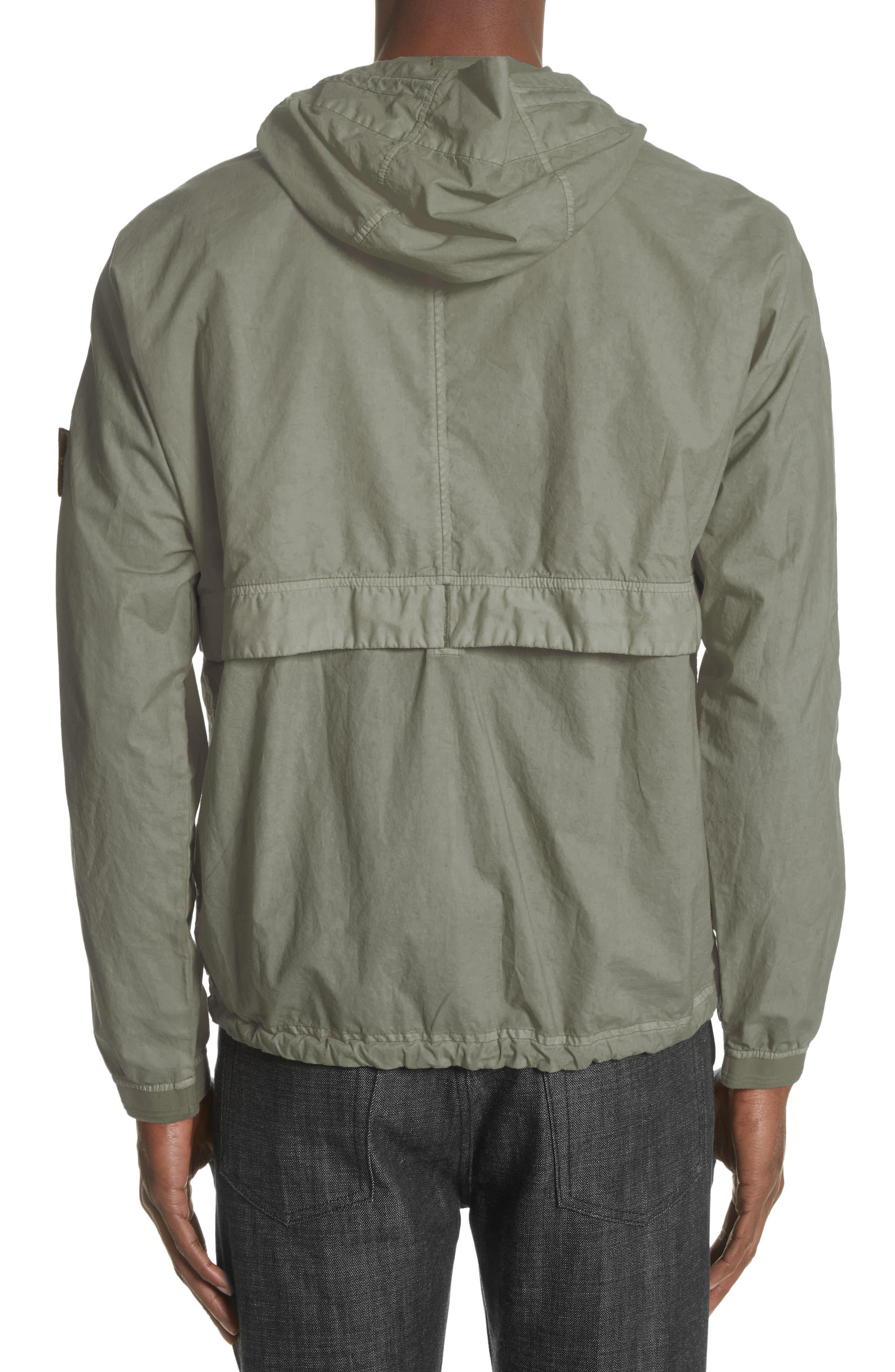 Poplin Hooded Jacket,                             Alternate thumbnail 2, color,                             Green