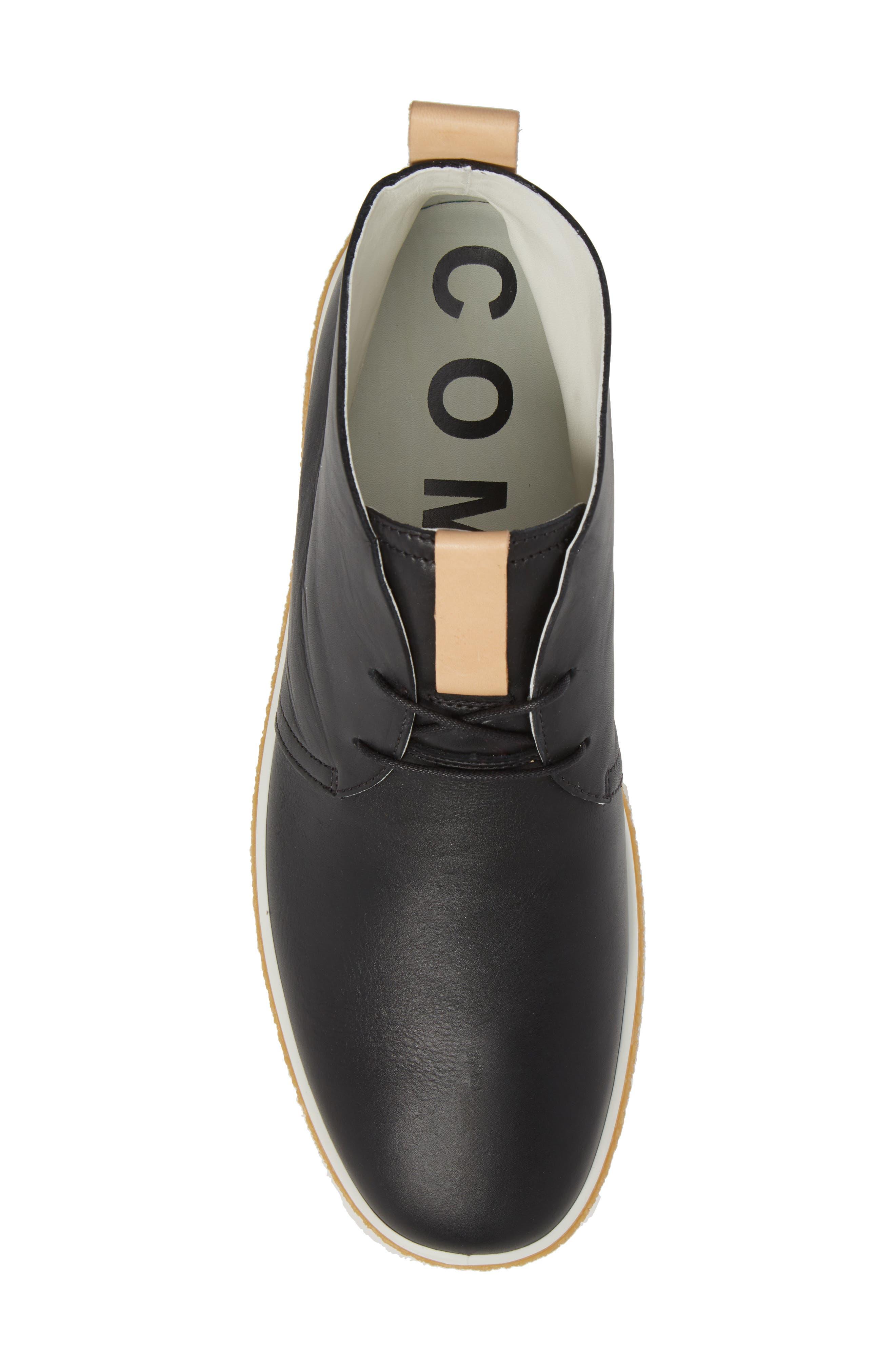 Crepetray Chukka Boot,                             Alternate thumbnail 5, color,                             Black Leather
