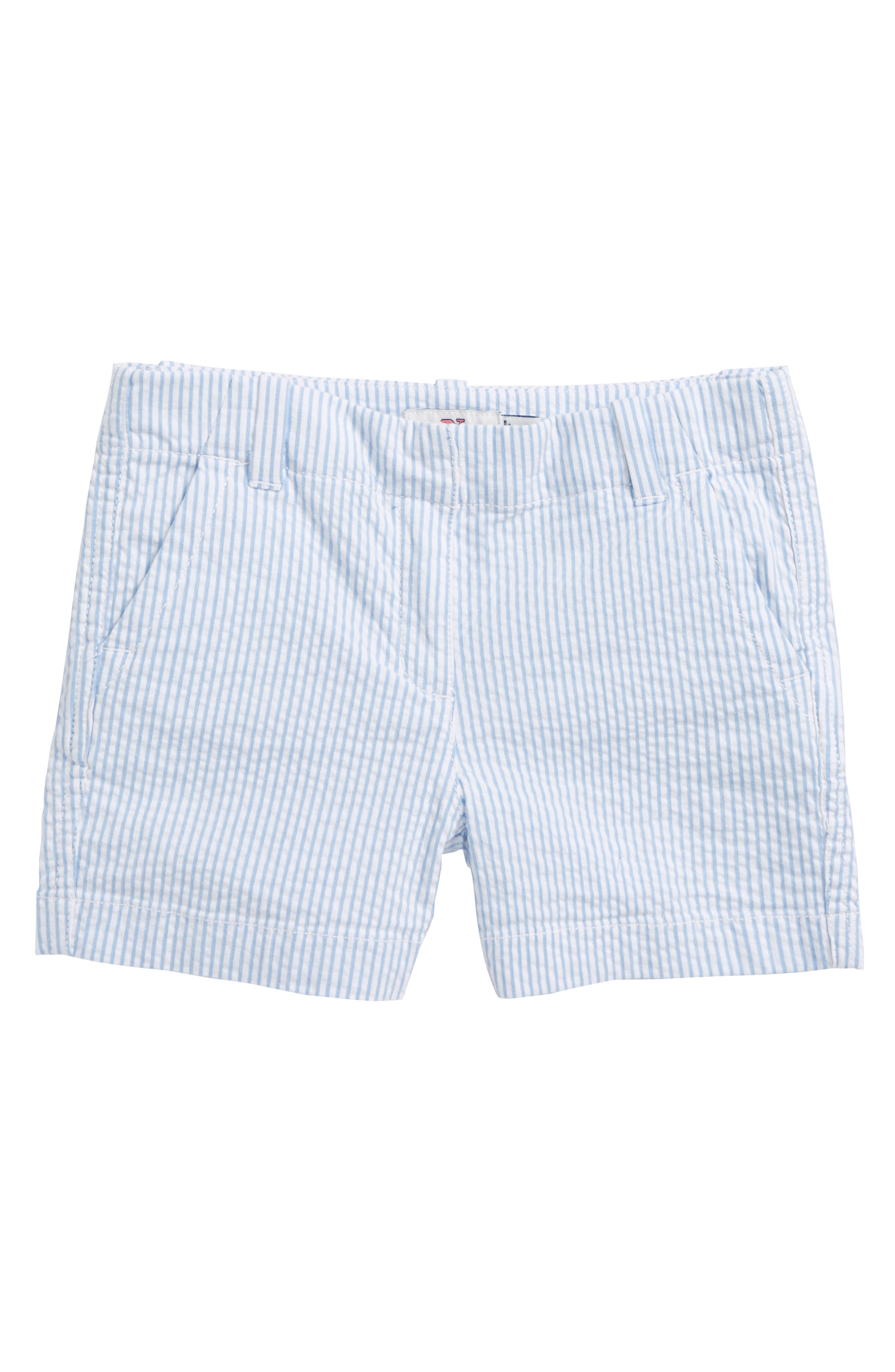 Seersucker Everyday Shorts,                             Main thumbnail 1, color,                             Ocean Breeze