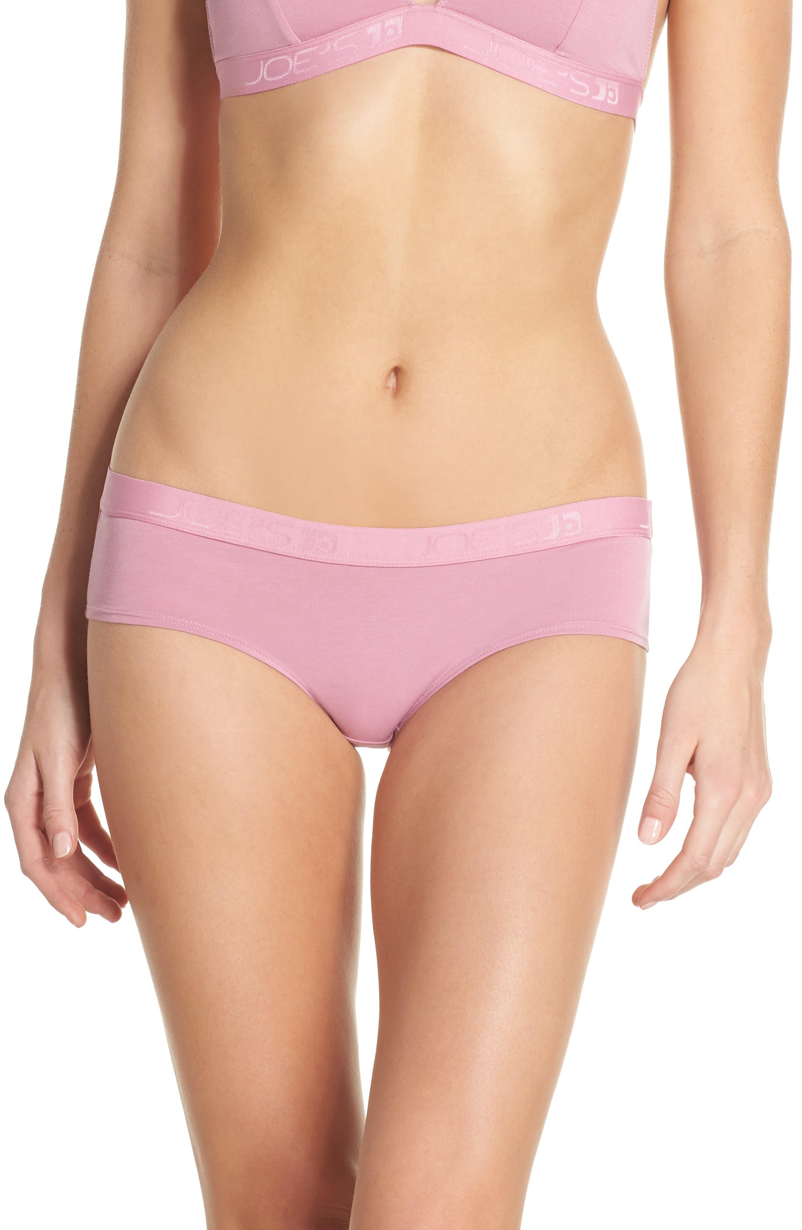 Logo Basic Hipster Panties,                         Main,                         color, Rose Violet