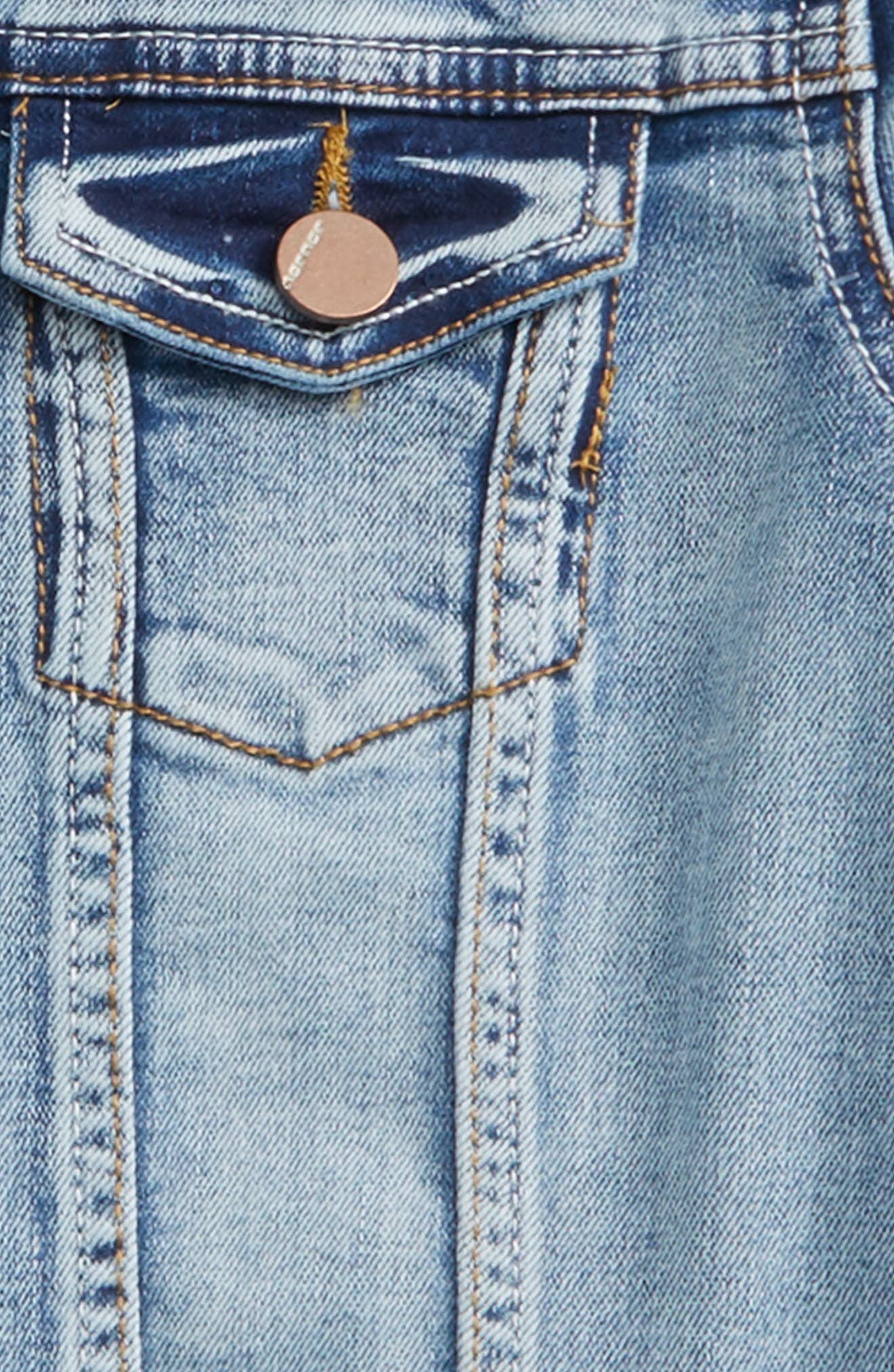 Denise Stretch Denim Jacket,                             Alternate thumbnail 2, color,                             Medium Wash