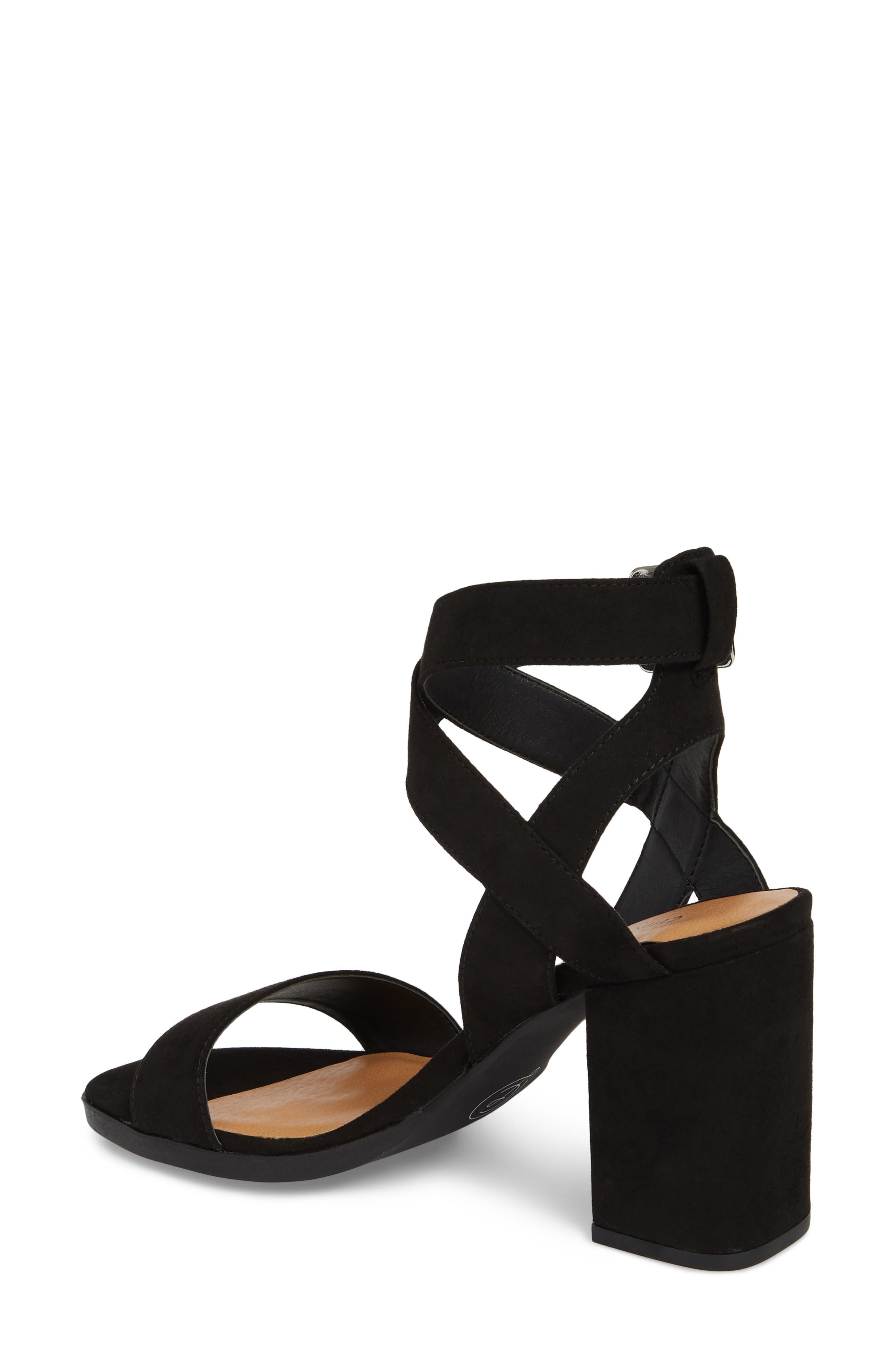 Stassi Block Heel Sandal,                             Alternate thumbnail 2, color,                             Black