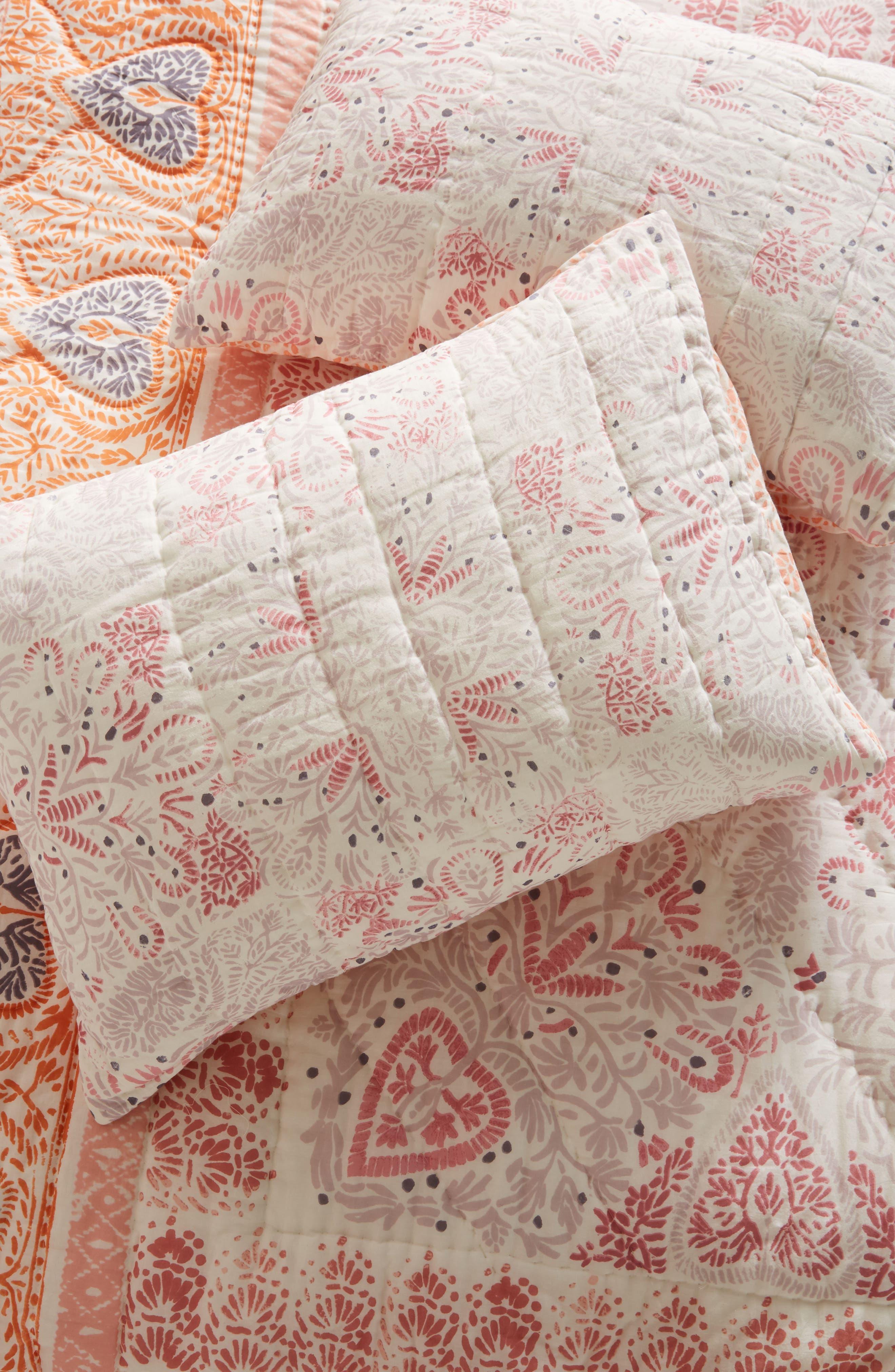 Josee Pillow Shams,                         Main,                         color, Coral