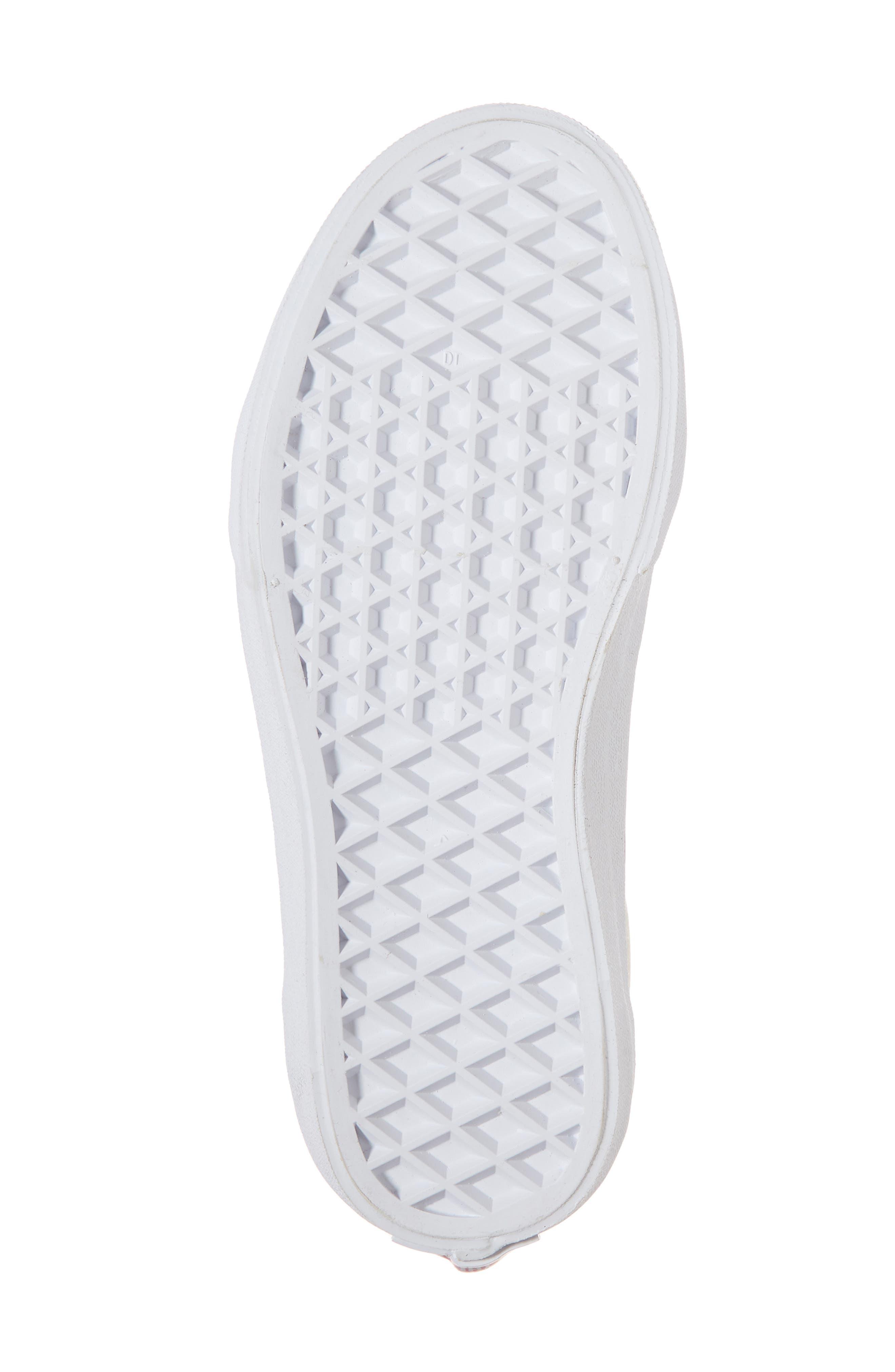 Old Skool Sneaker,                             Alternate thumbnail 6, color,                             Rainbow White Glitter