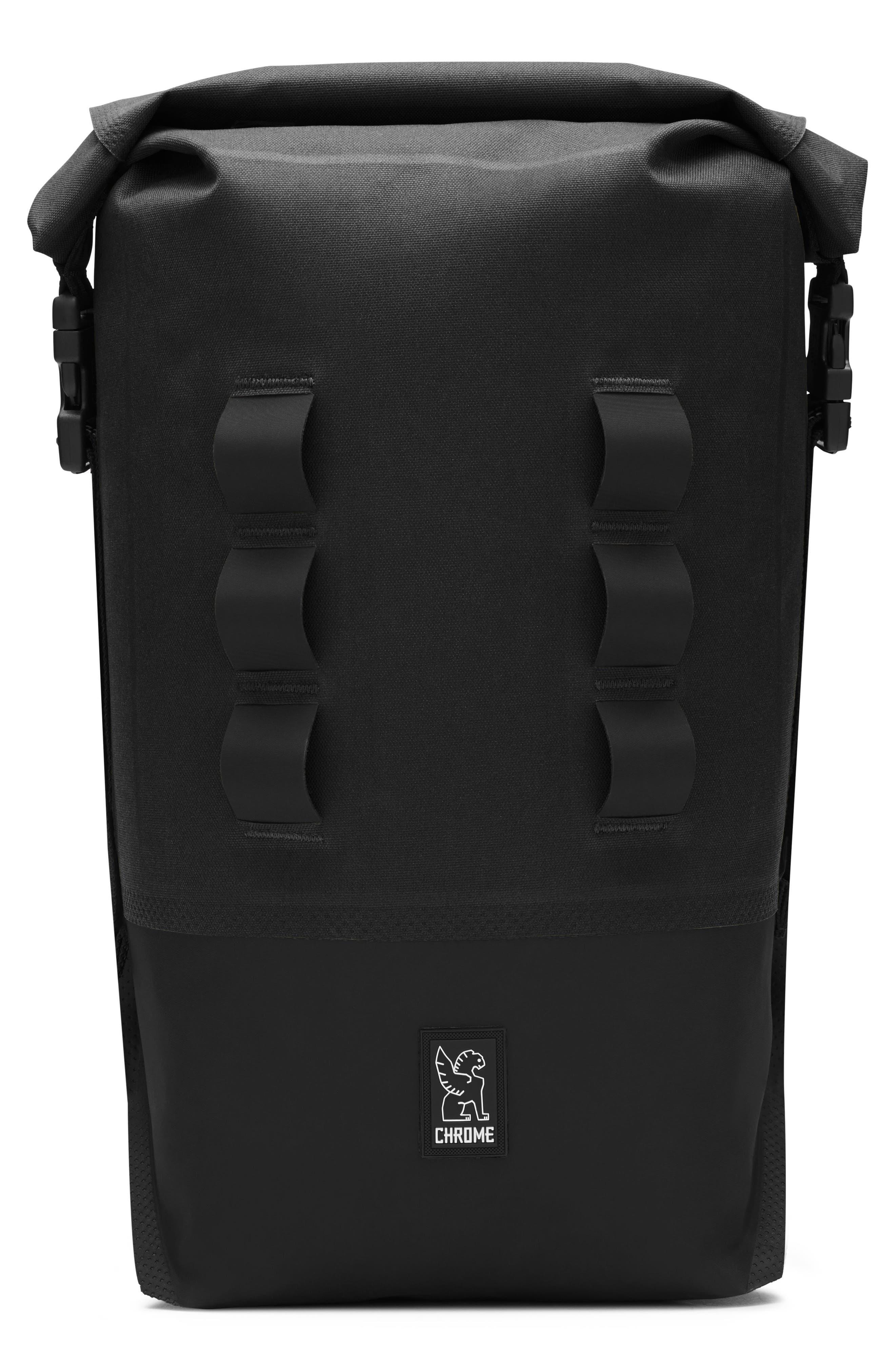 Urban Ex Rolltop Waterproof Backpack,                         Main,                         color, Black/ Black