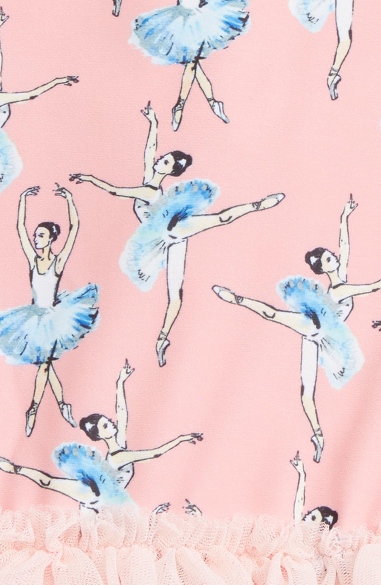 Basque Ballerinas One-Piece Swimsuit,                             Alternate thumbnail 2, color,                             Pink