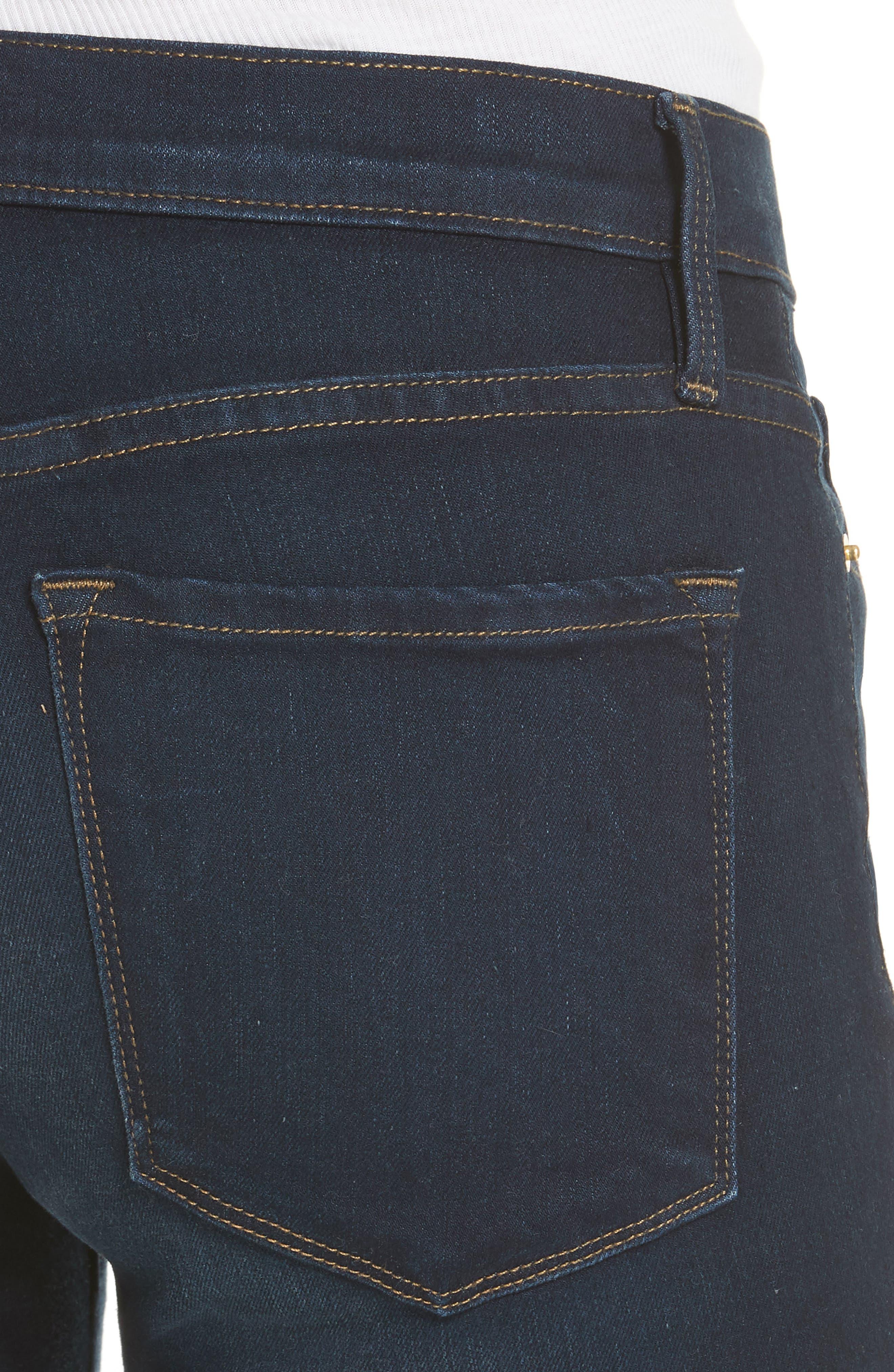 Le Skinny de Jeanne Sweetheart Hem Jeans,                             Alternate thumbnail 4, color,                             Longstreet