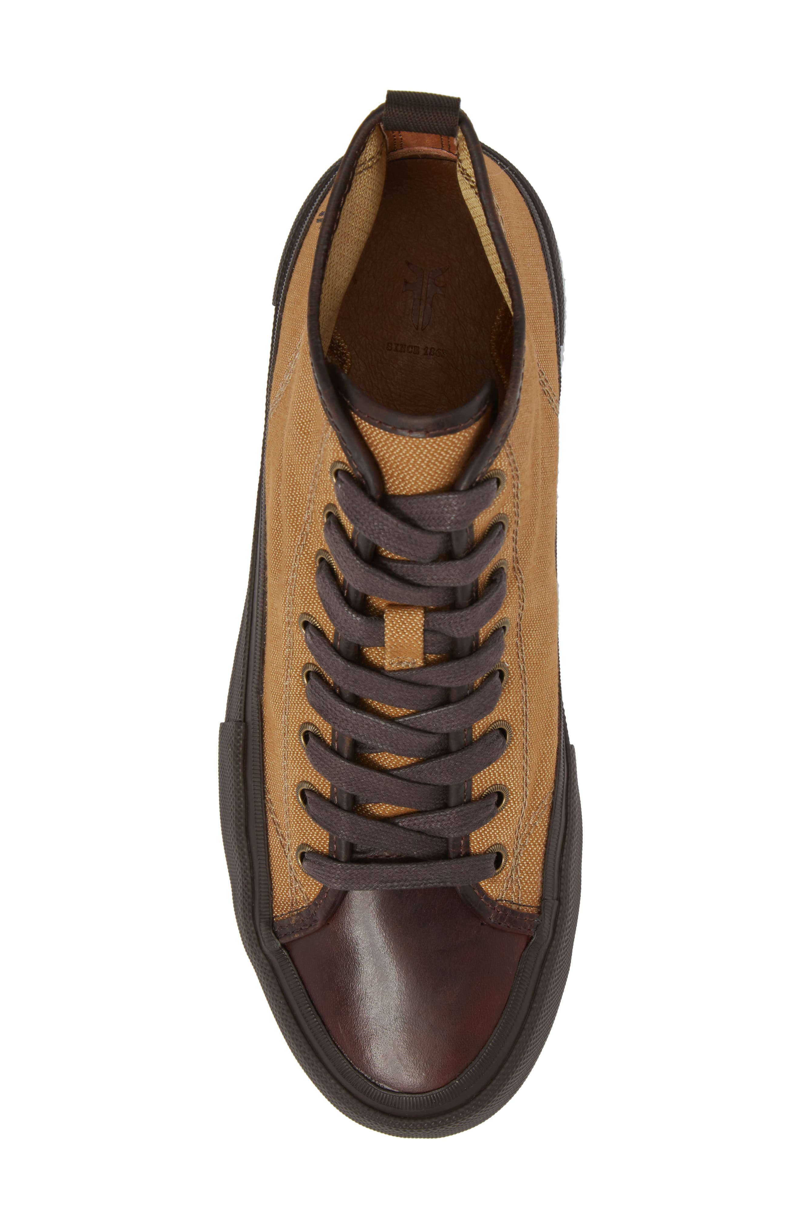 Ryan Lugged Sneaker Boot,                             Alternate thumbnail 5, color,                             Tan Canvas